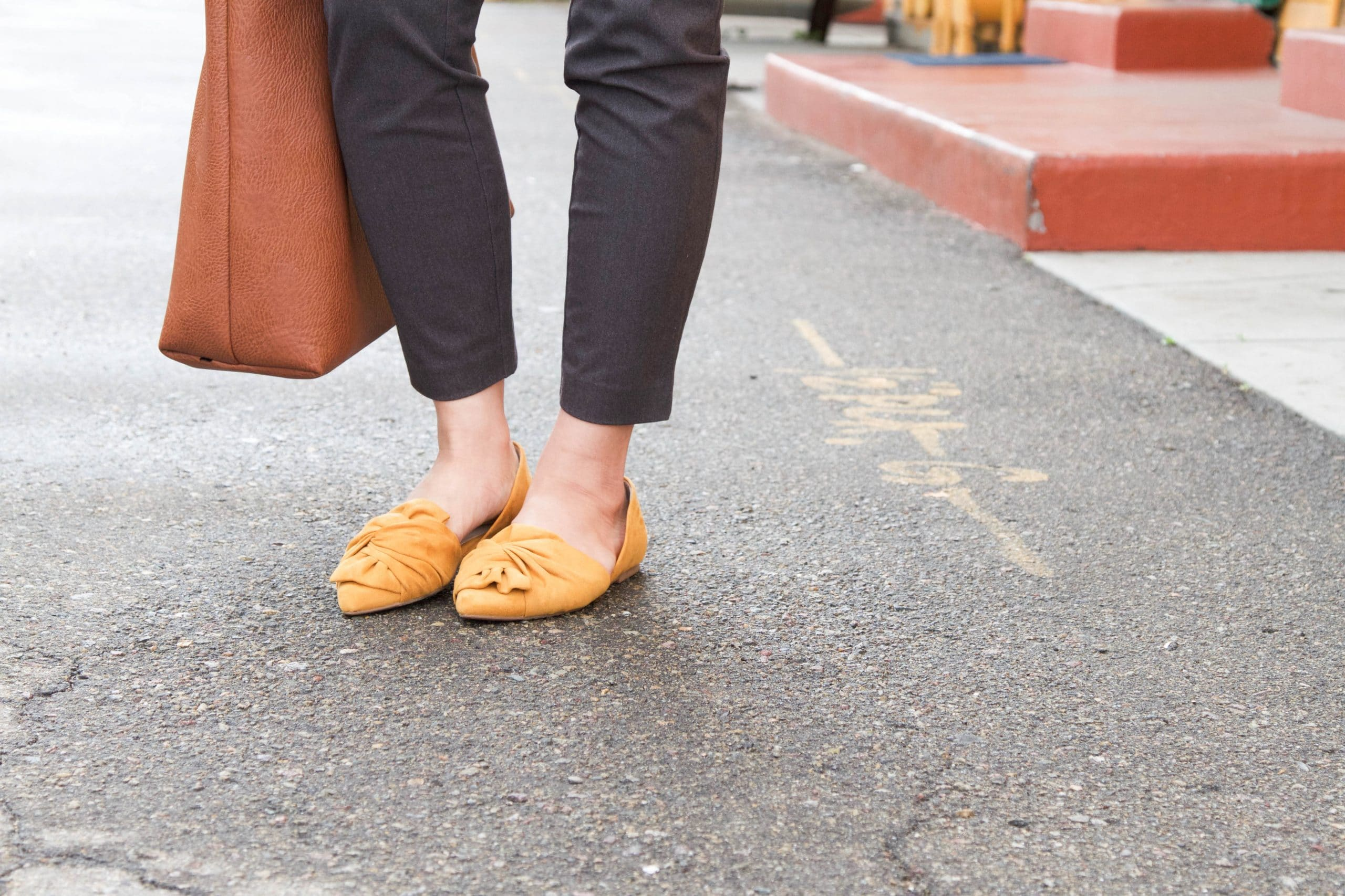 Mustard Flats + Gray Business Casual Pants
