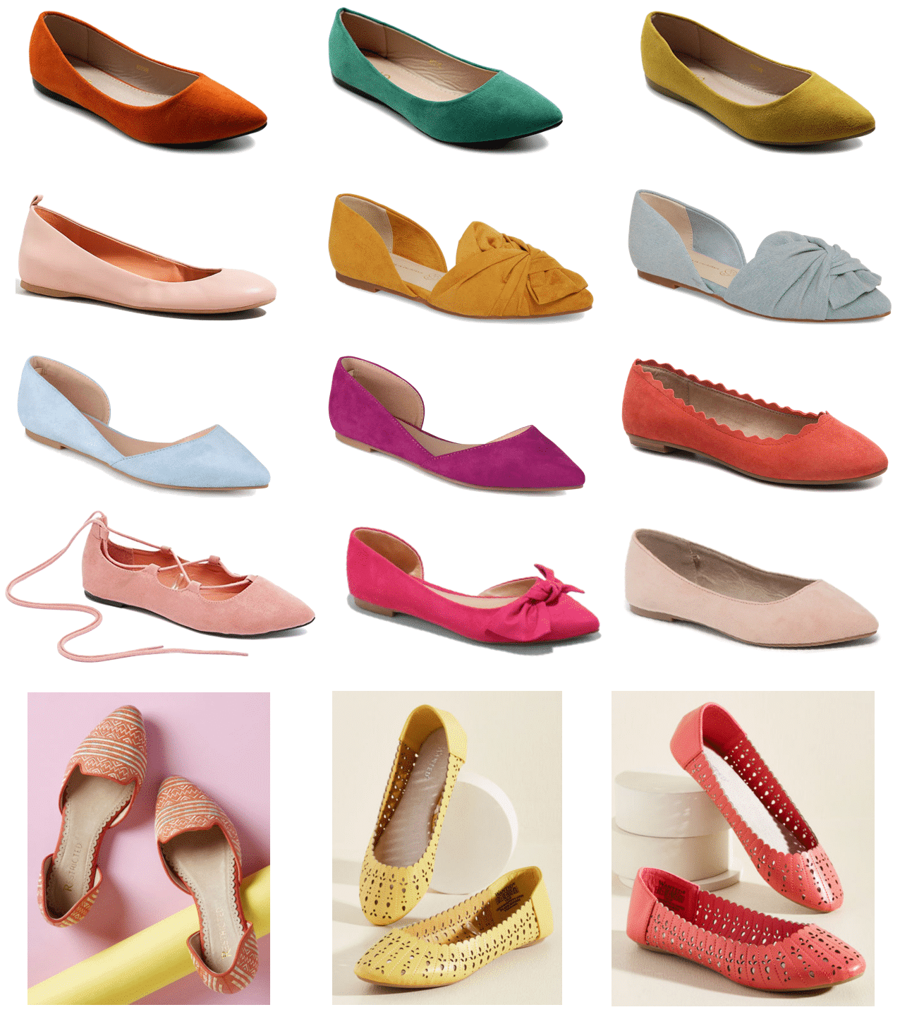 Colored Flats for Spring