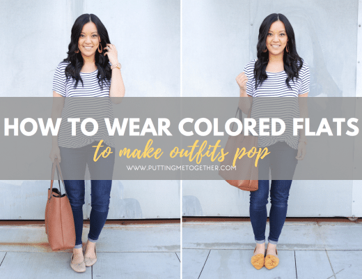 How to Wear Colored Flats for Spring