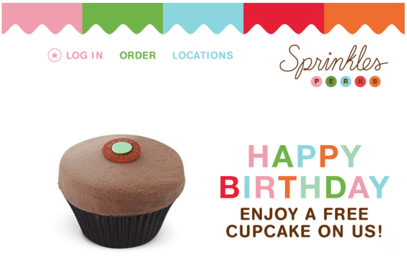 Sprinkles Birthday Freebie