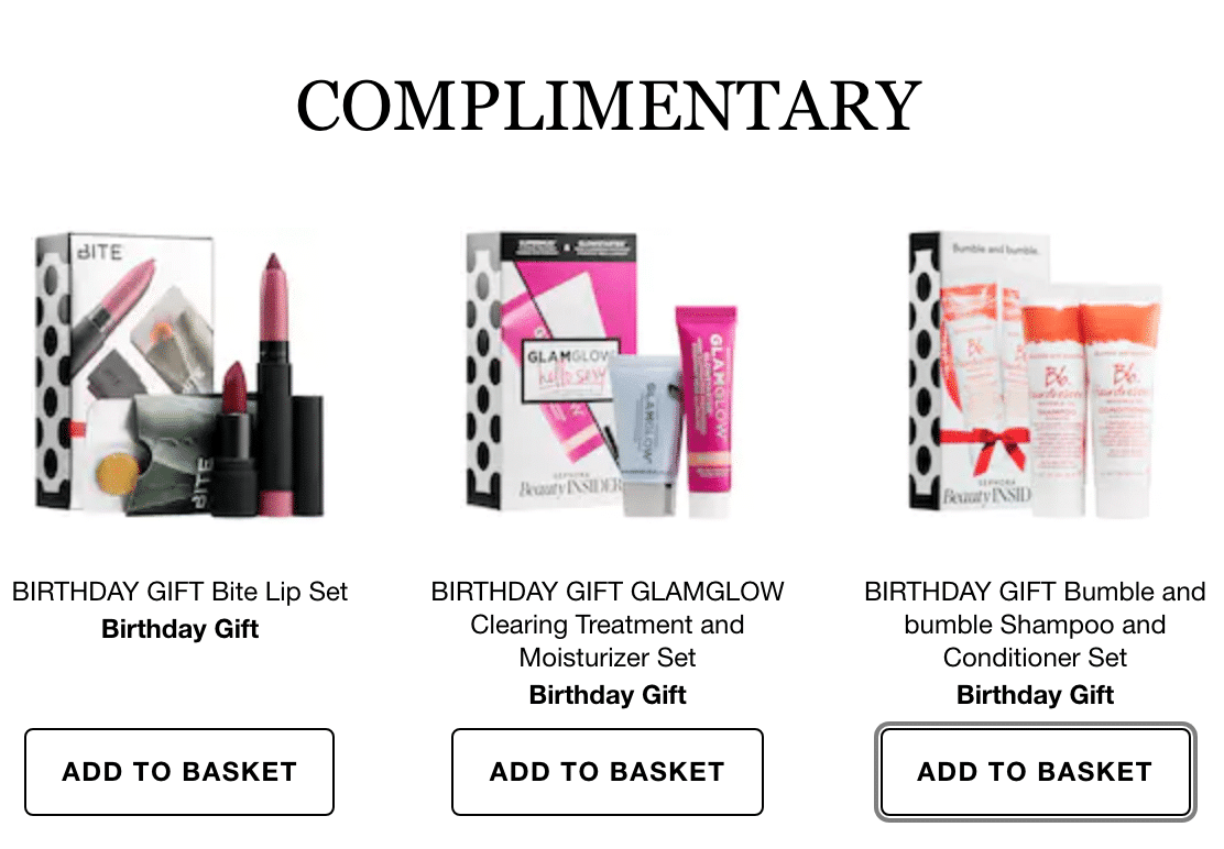 Sephora Birthday Freebies