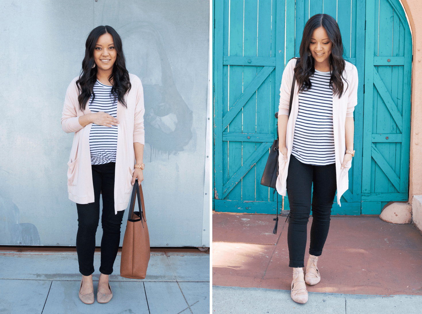 Bookending an Outfit with Colored Flats