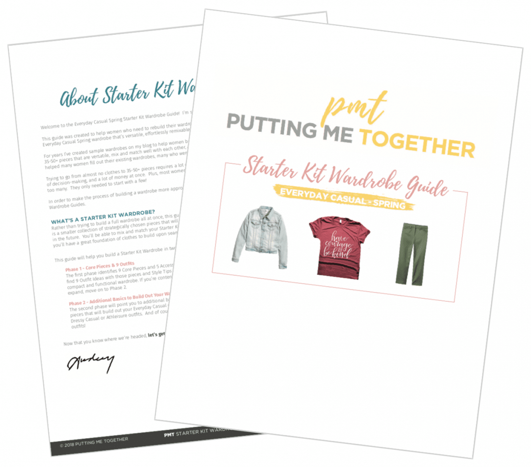 Build a Wardrobe From Scratch - Starter Kit Wardrobe Guide - Everyday Casual Spring