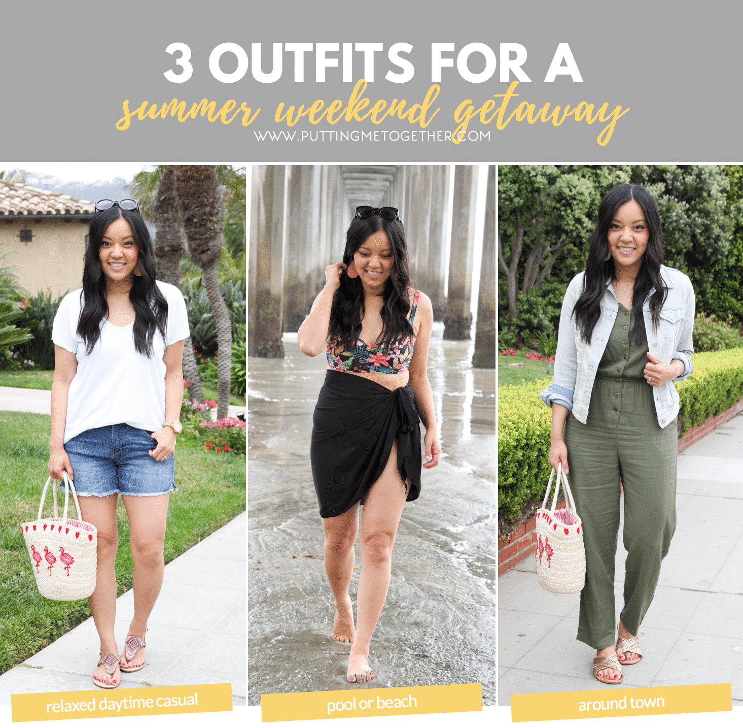 e992116125f0 3 Summer Weekend Getaway Outfits - Relaxing