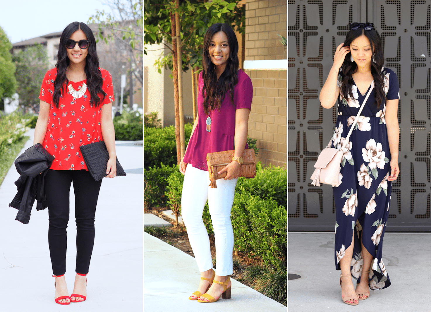 Colorful Heeled Sandals for Summer