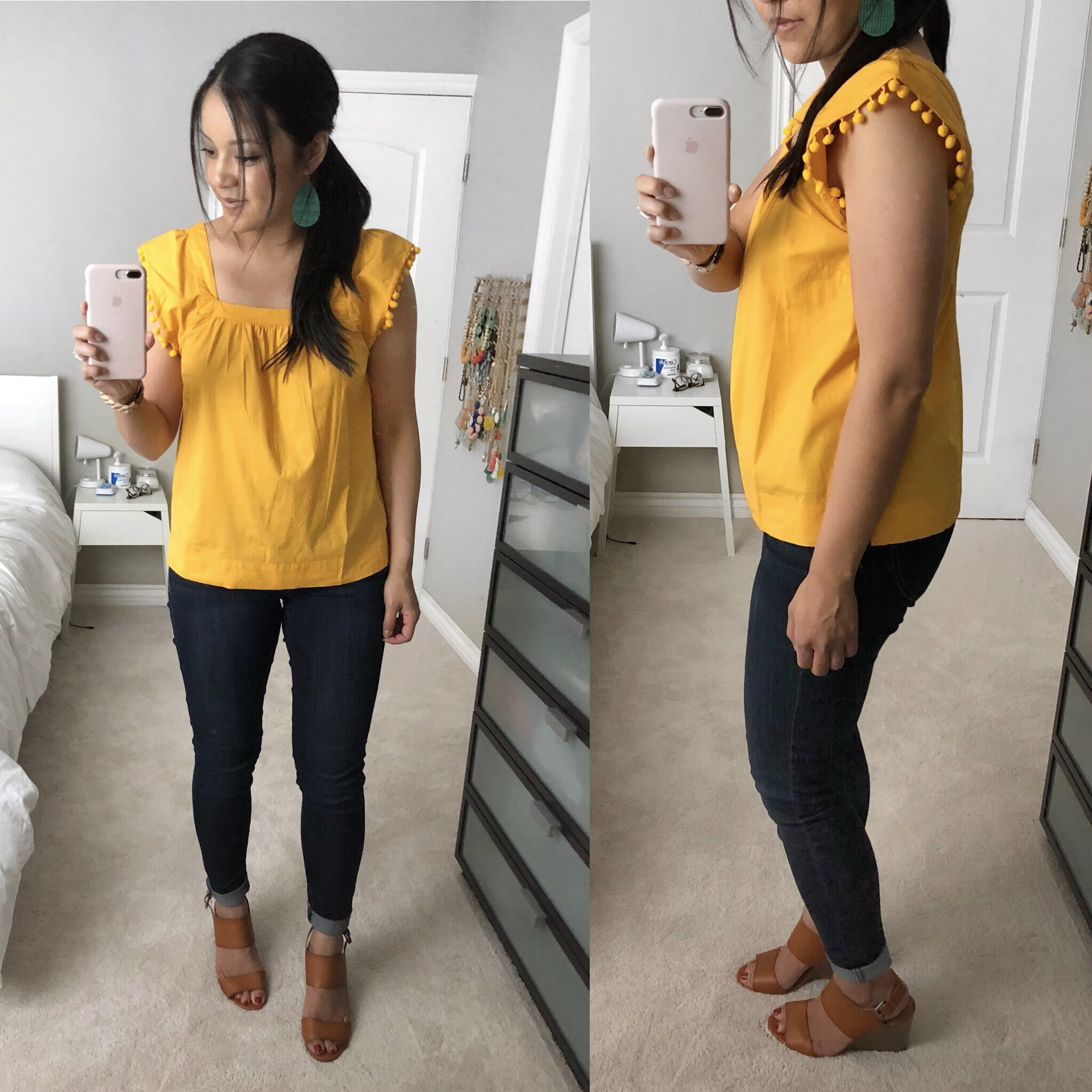 yellow pom pom sleeve review
