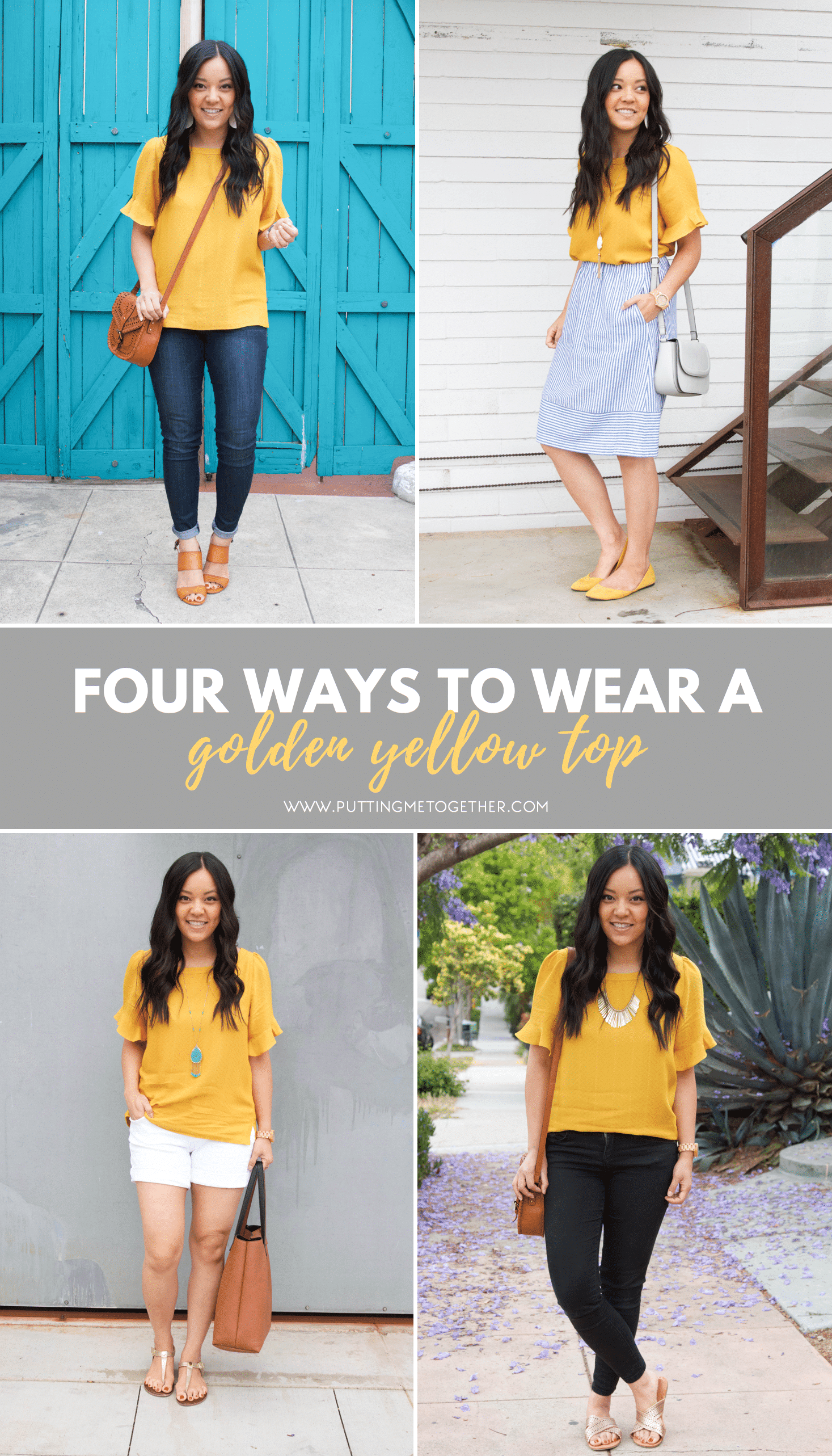 d3bfa6164a2 4 Ways to Style a Golden Yellow Top + 6 Yellow Top Options