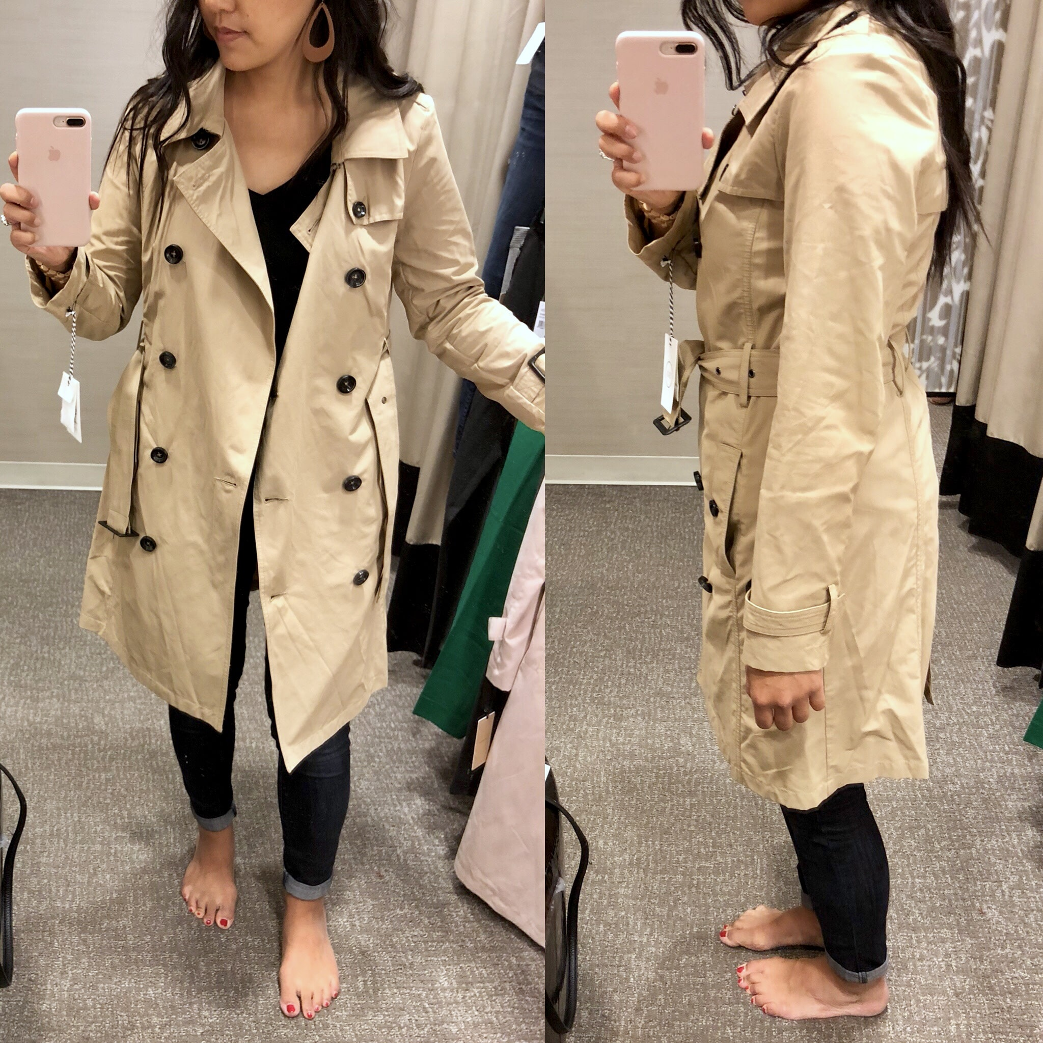 Nordstrom Anniversary Sale Try On- Khaki Trench Coat