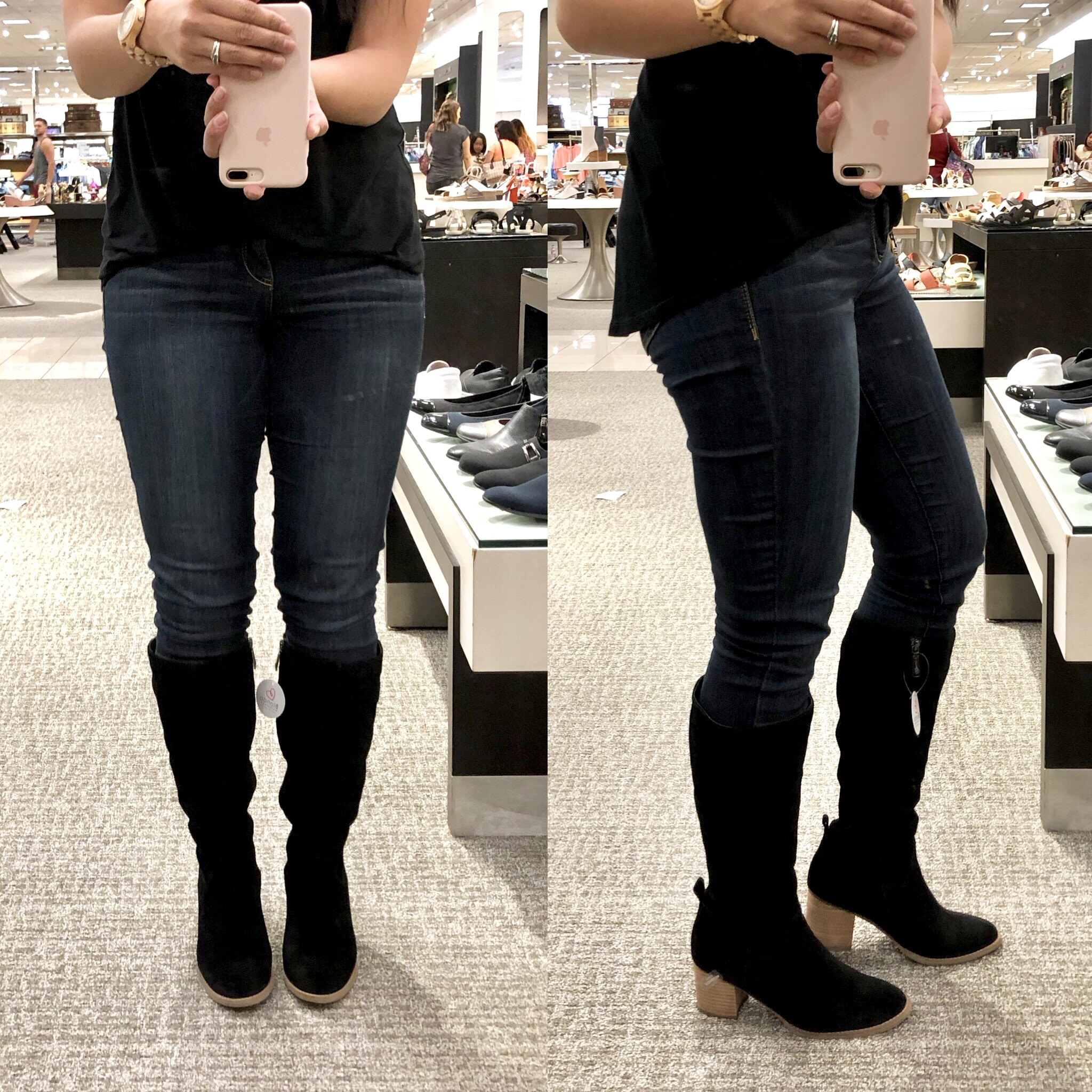 Nordstrom Anniversary Sale Try On- Black Riding Boots