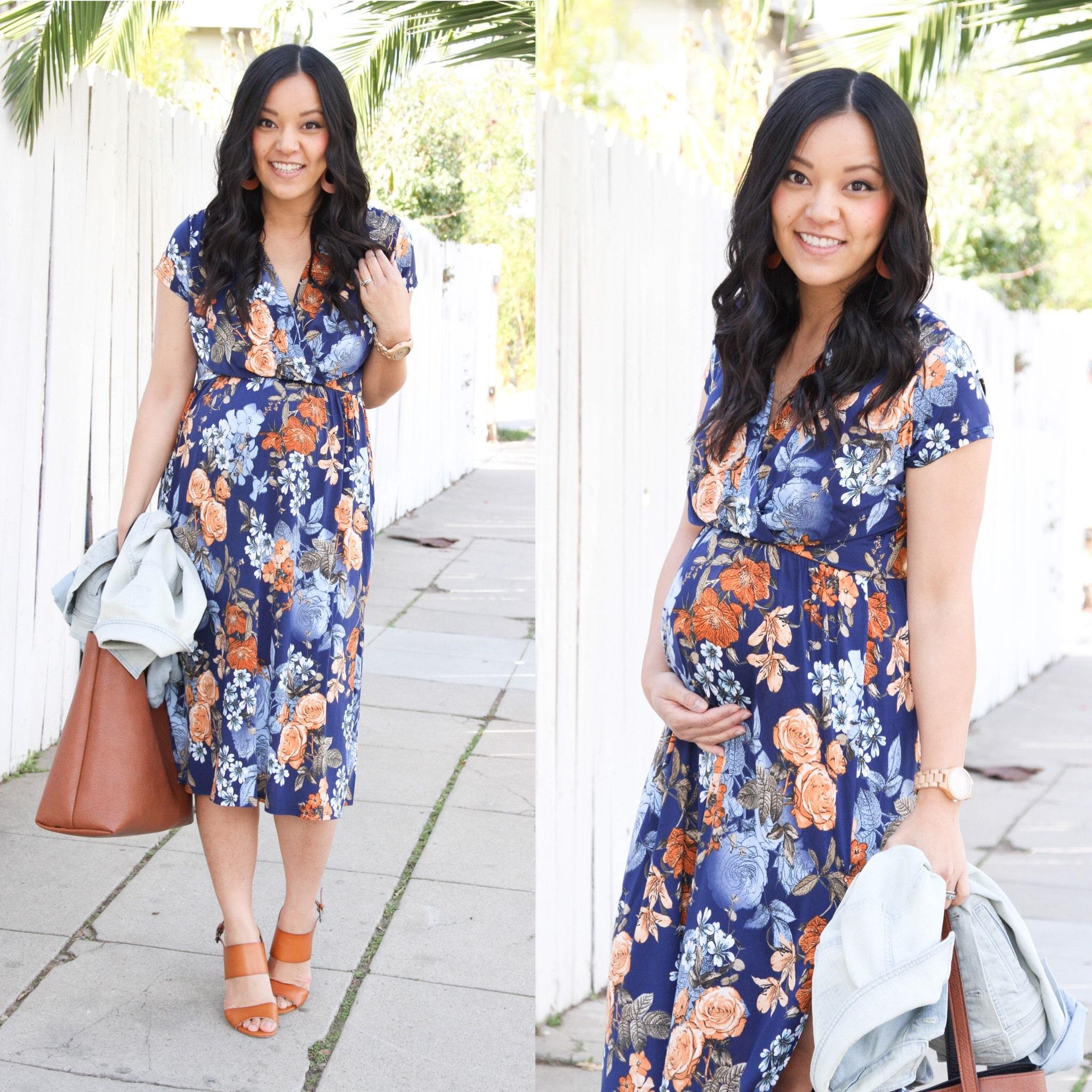 Breastfeeding Friendly Maternity Dress