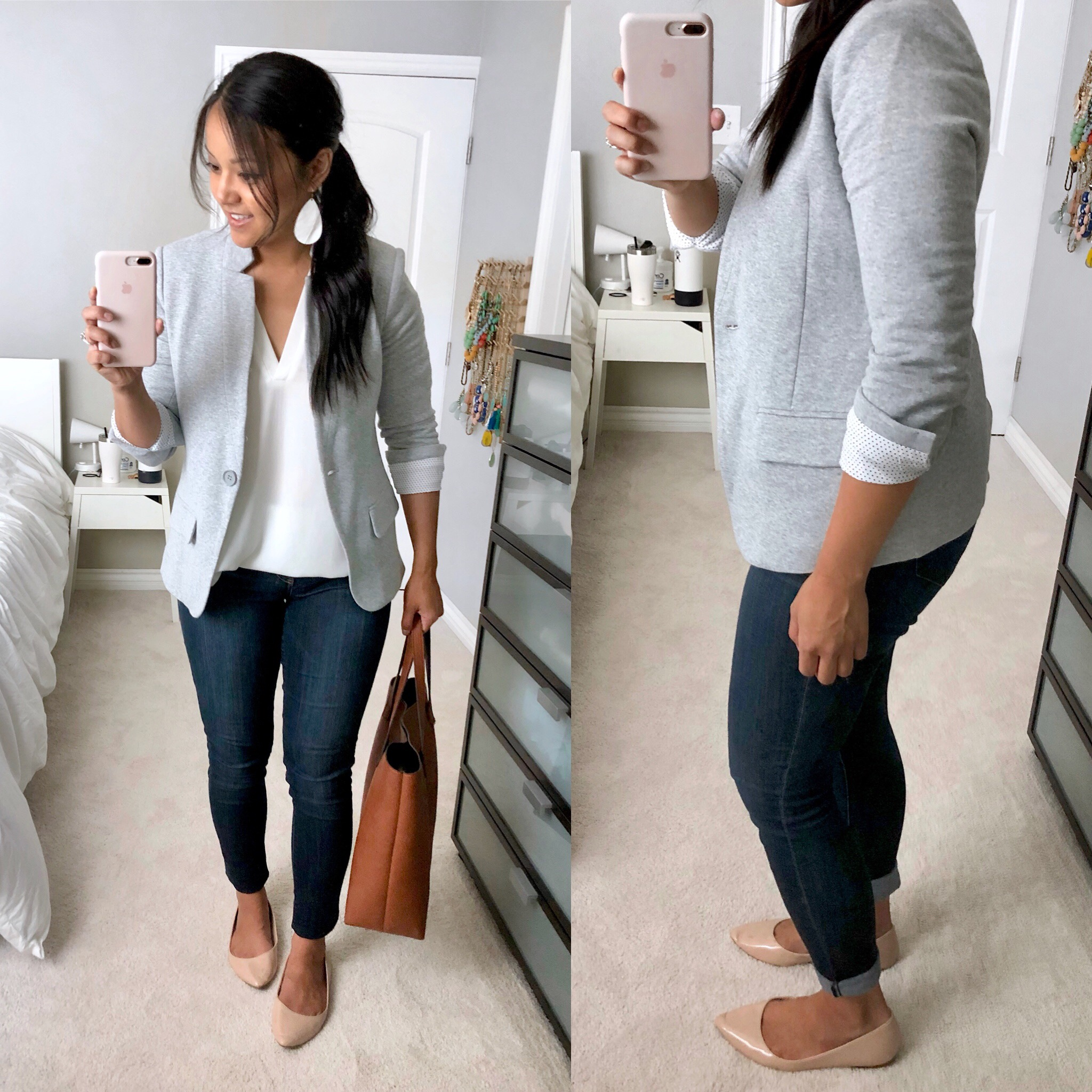 Nordstrom Anniversary Sale Try On- Grey Knit Blazer