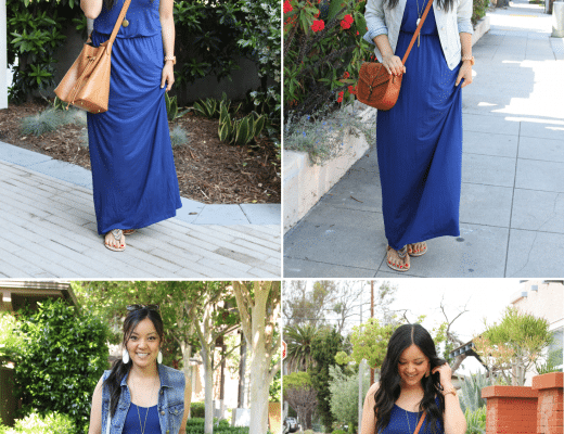Blue Maxi Dress Outfits for the Summer