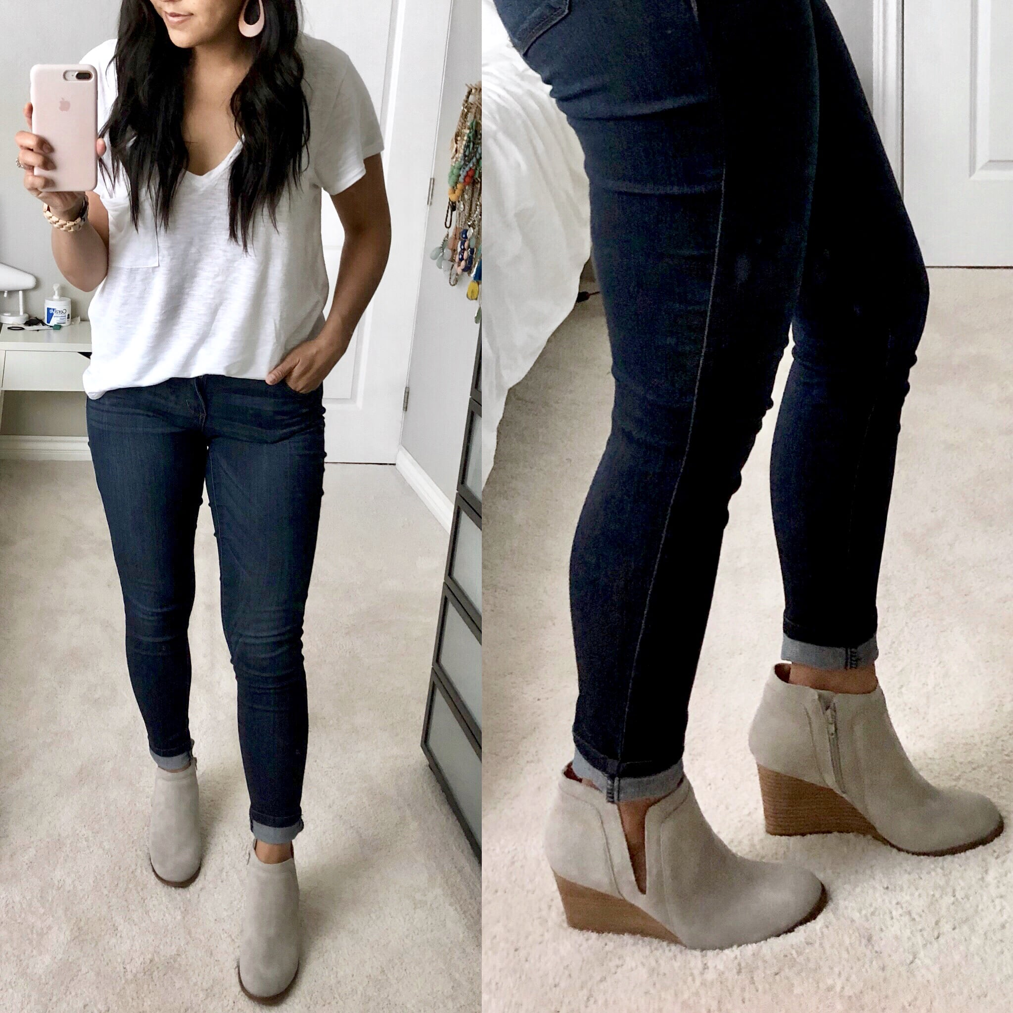 Nordstrom Anniversary Sale Try On- Light Cutout Wedge Booties