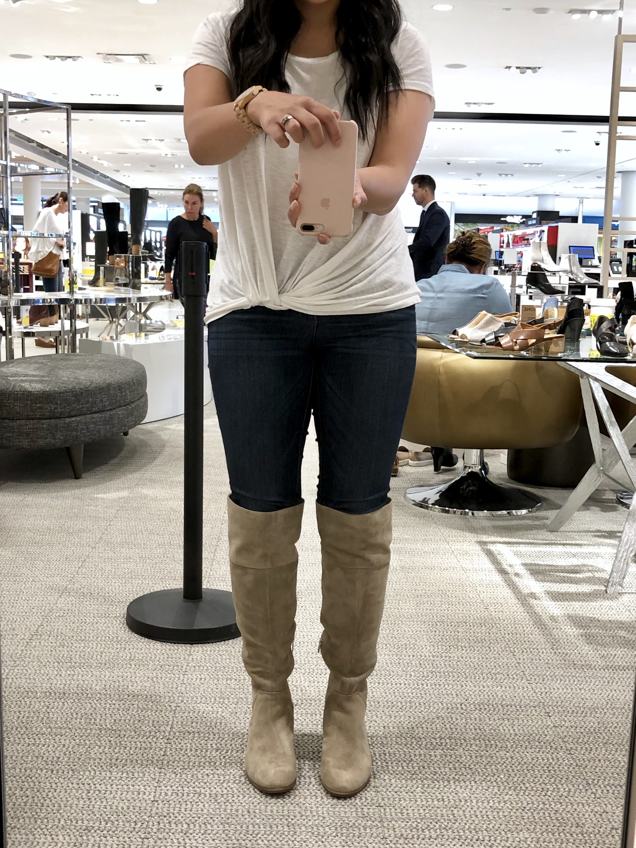 Nordstrom Anniversary Sale Try On- Taupe Knee High Boots