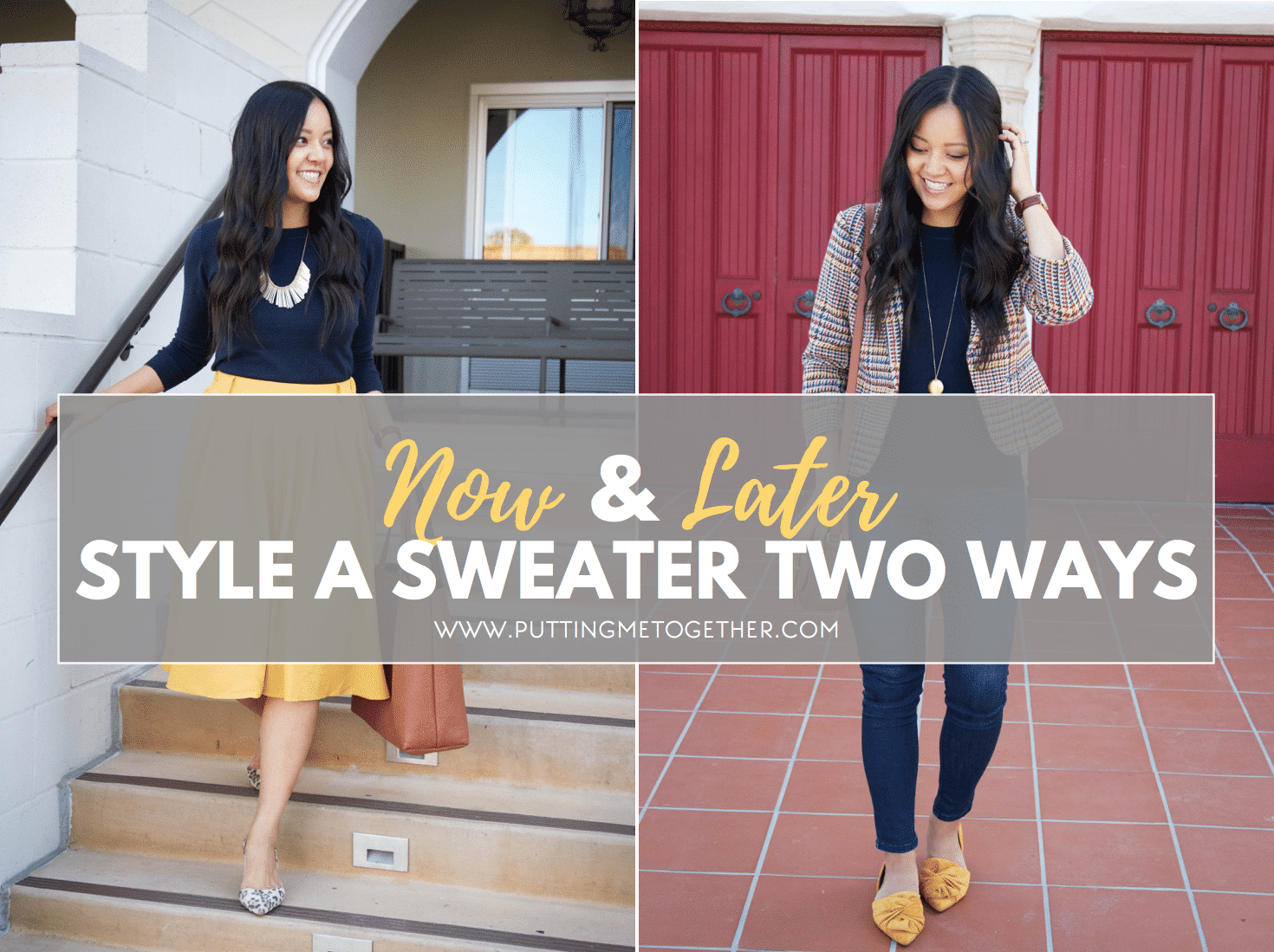 Outfits With a Navy Sweater