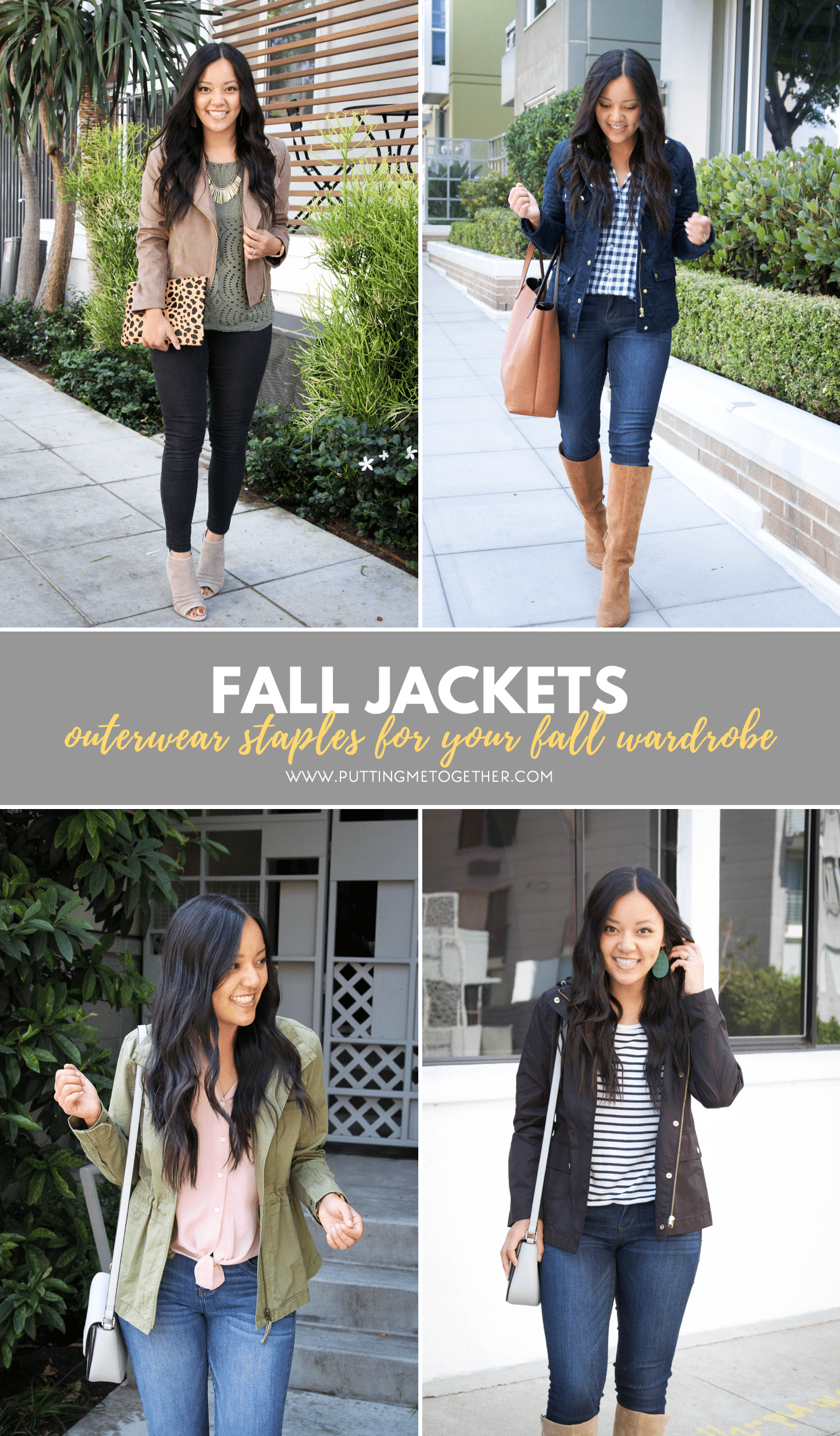 Four of My Favorite Types of Fall Jackets
