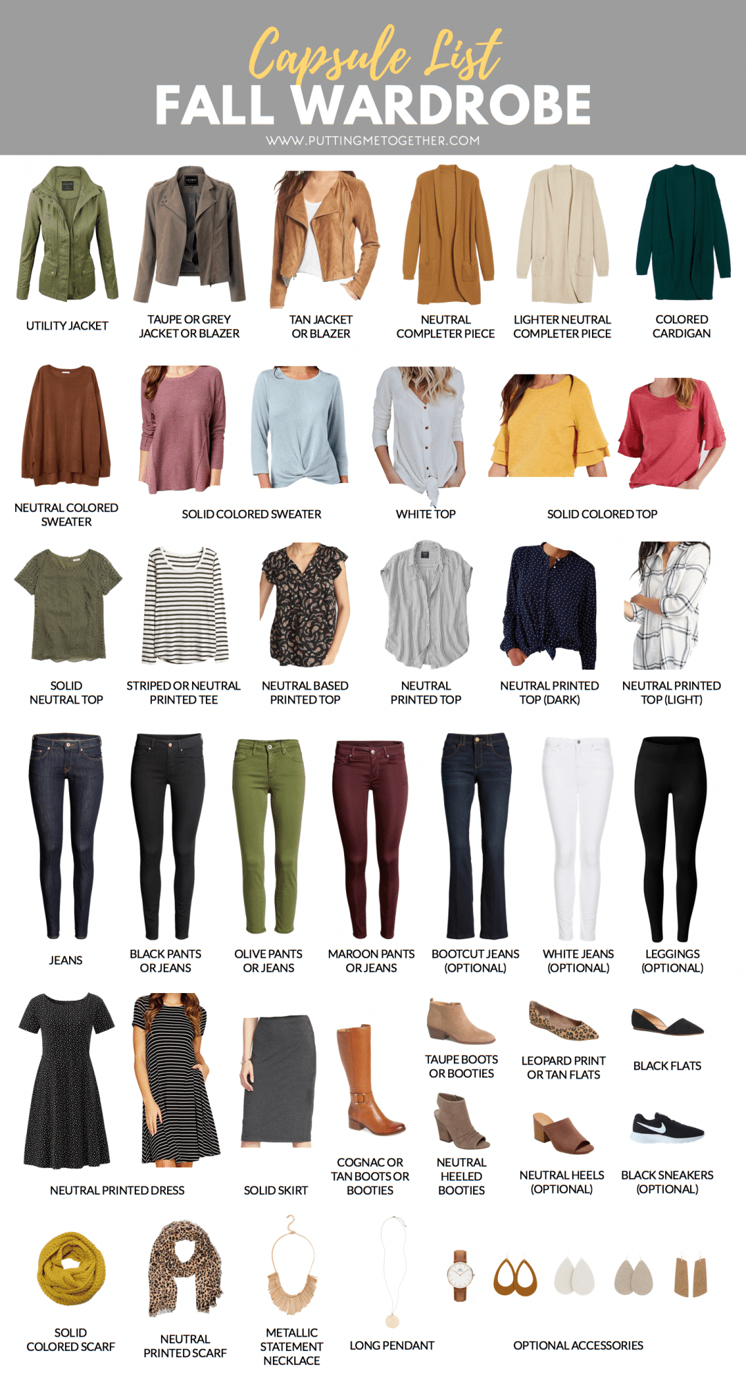 Fall Capsule Wardrobe For The PMT Fall 2018 Challenge
