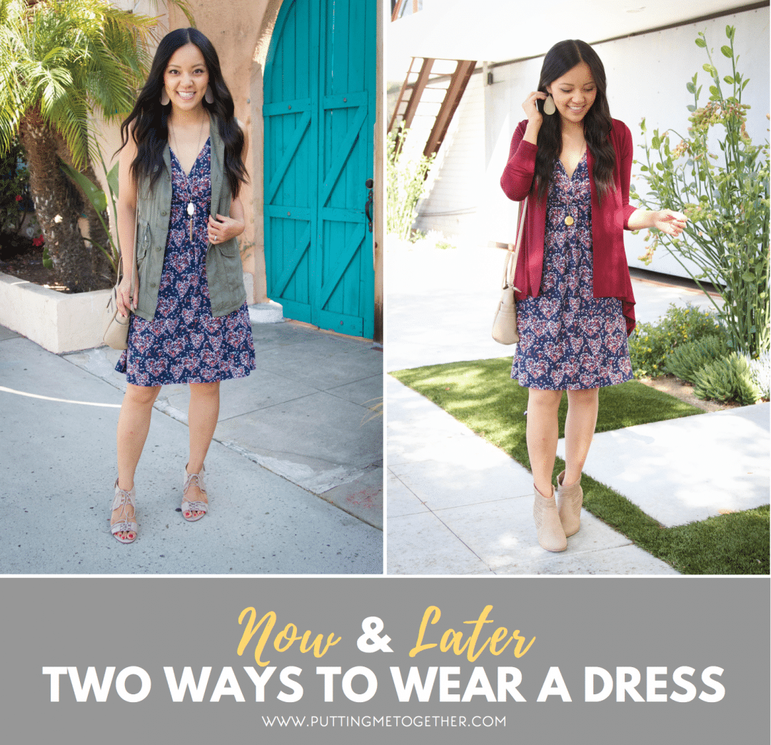 Two Fall Outfits with a Dress