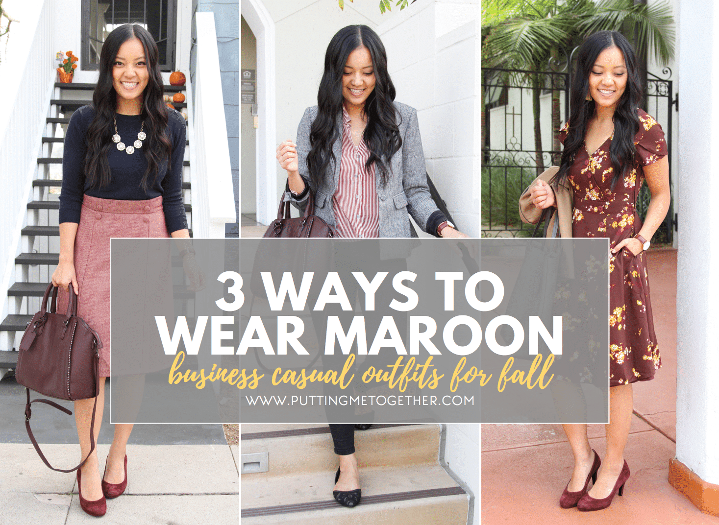 Business Casual Outfits With Maroon