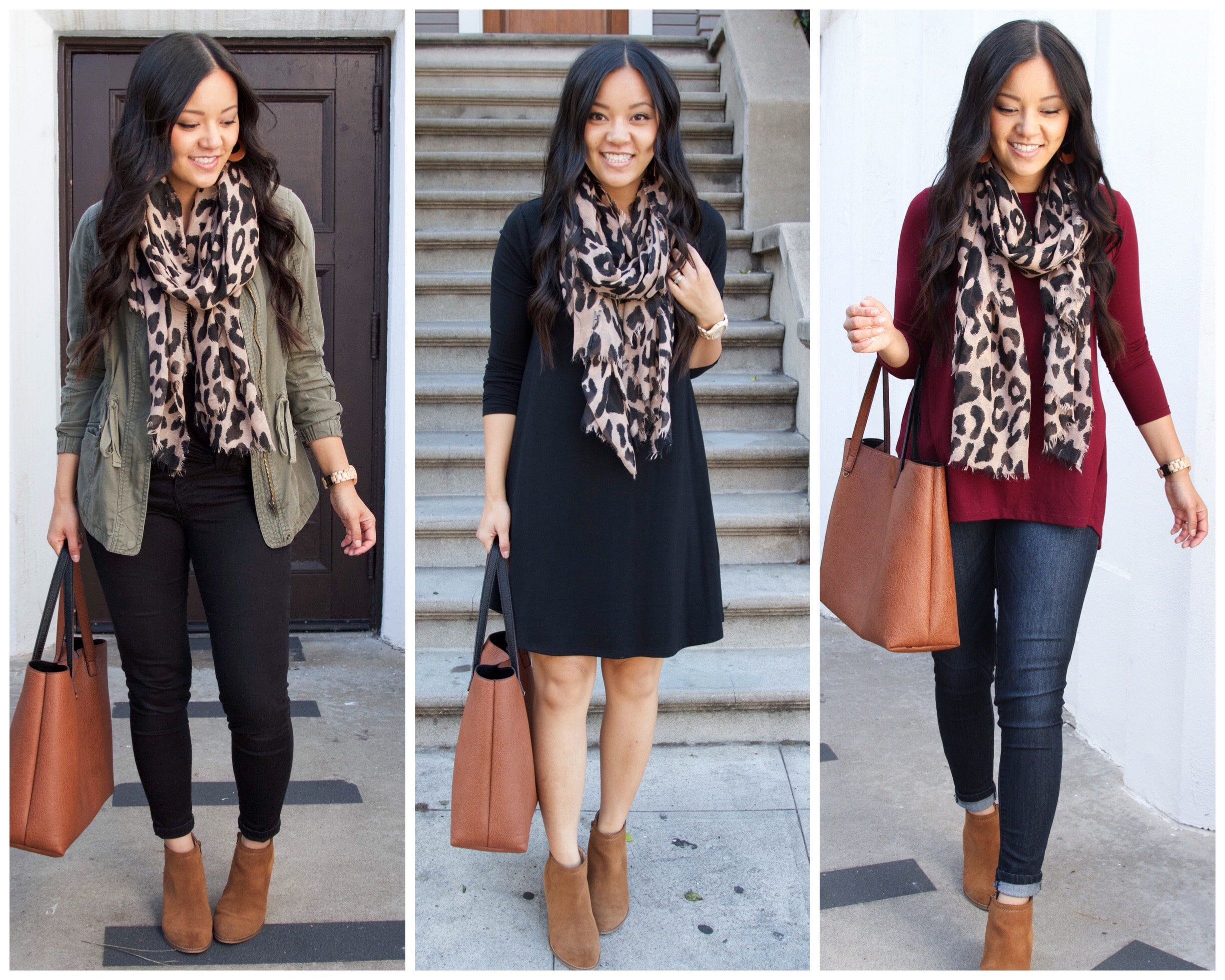 Styling Outfits with a Leopard Scarf