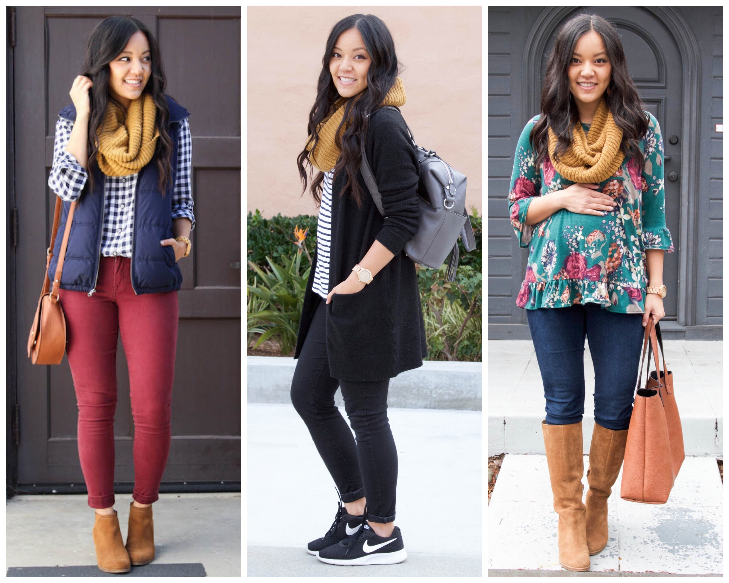 Outfits with Mustard Scarf- Styling a scarf