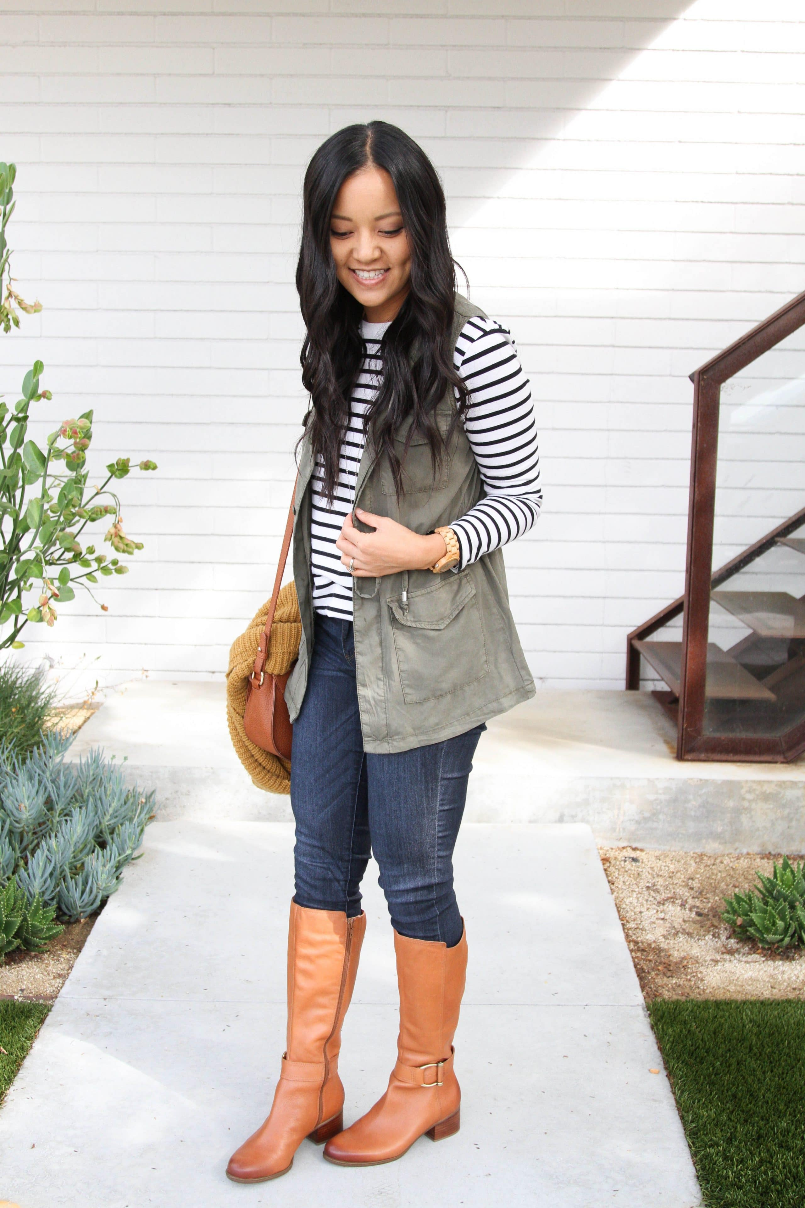 Riding boots + Skinnies + Utility Vest