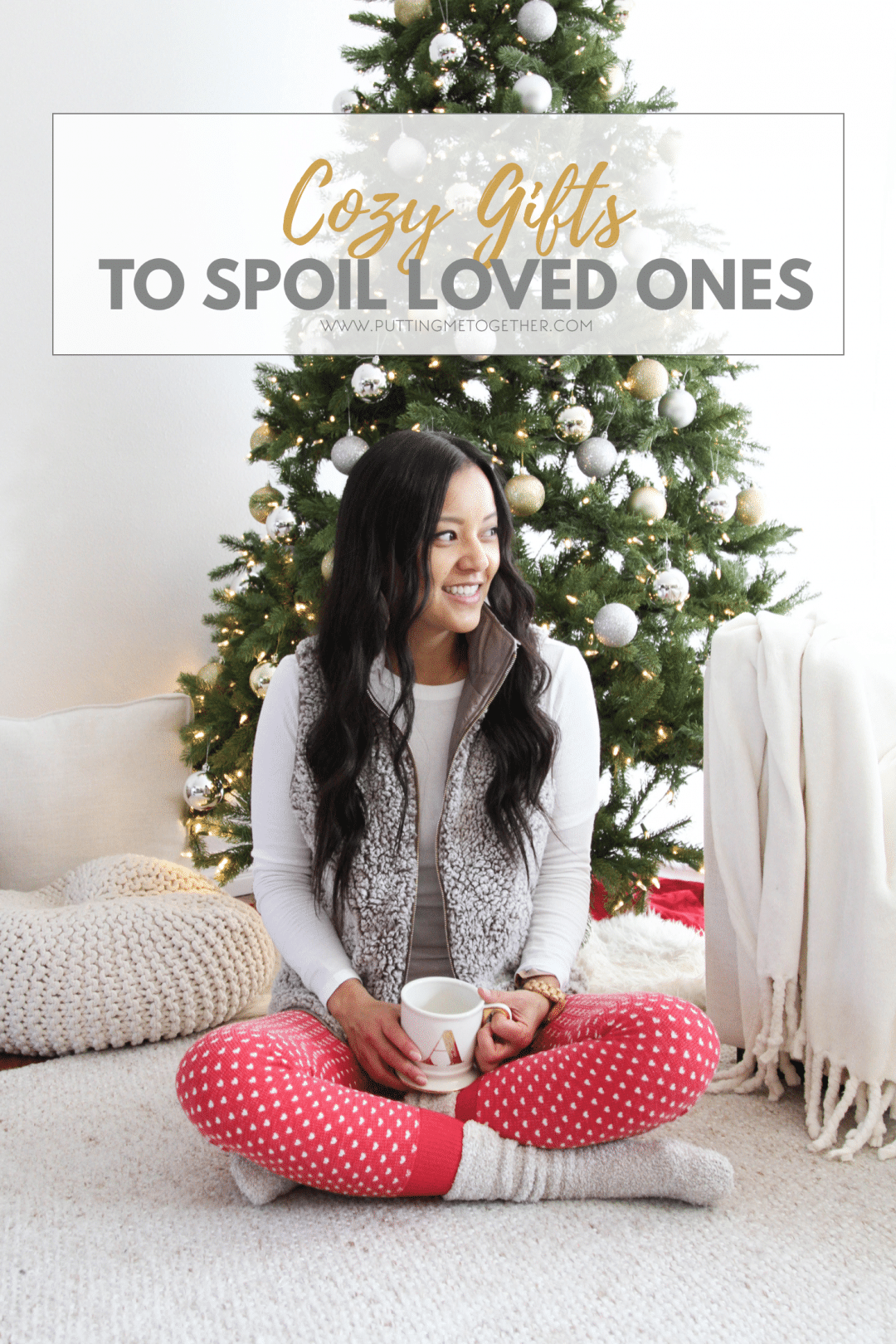 Cozy Gifts and Cozy Holiday Outfit for Home