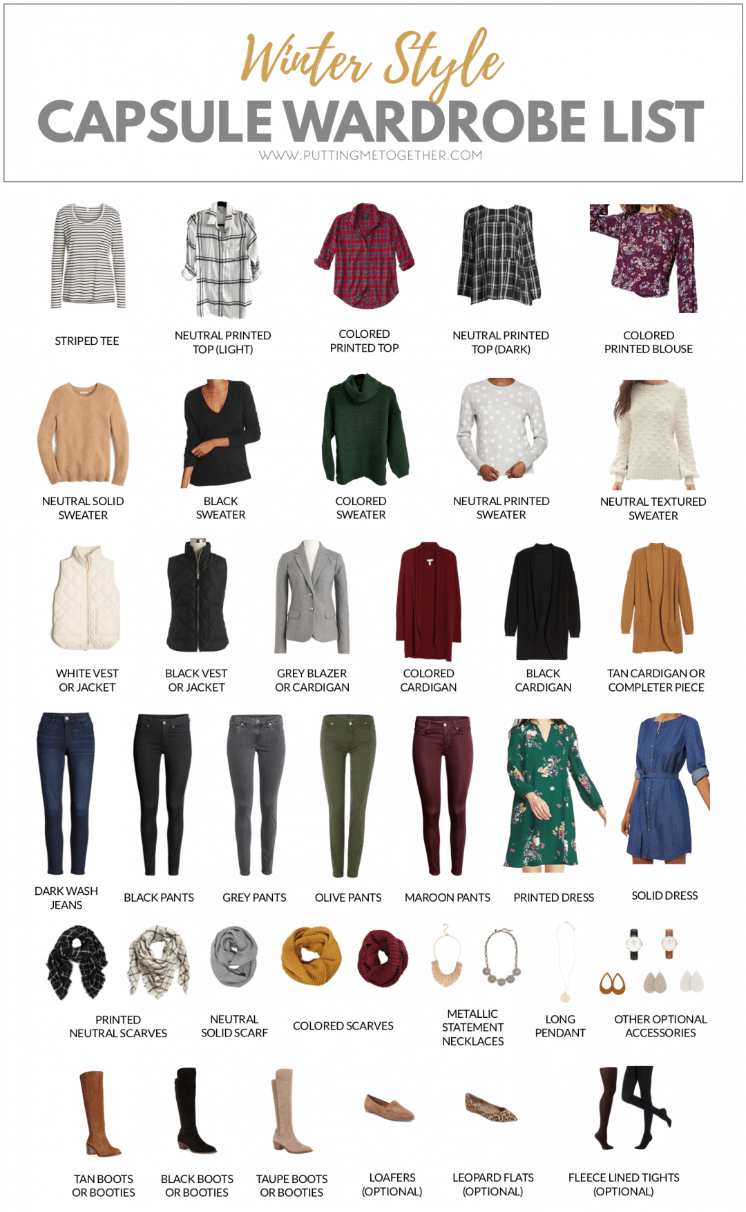 Capsule Wardrobe: Winter Capsule Wardrobe For The PMT Winter 2019 Challenge