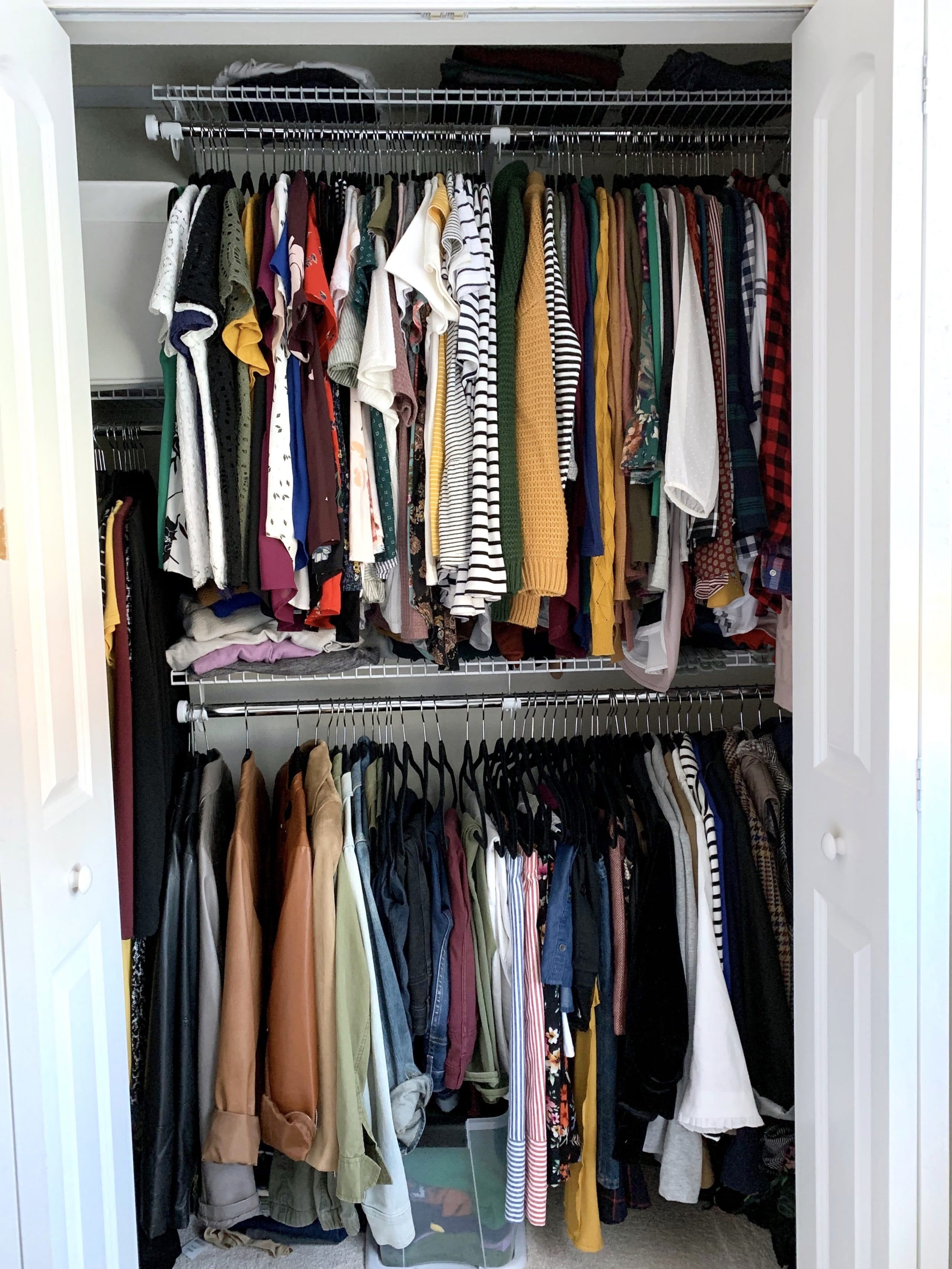 Closet Organization System with Racks and Shelves
