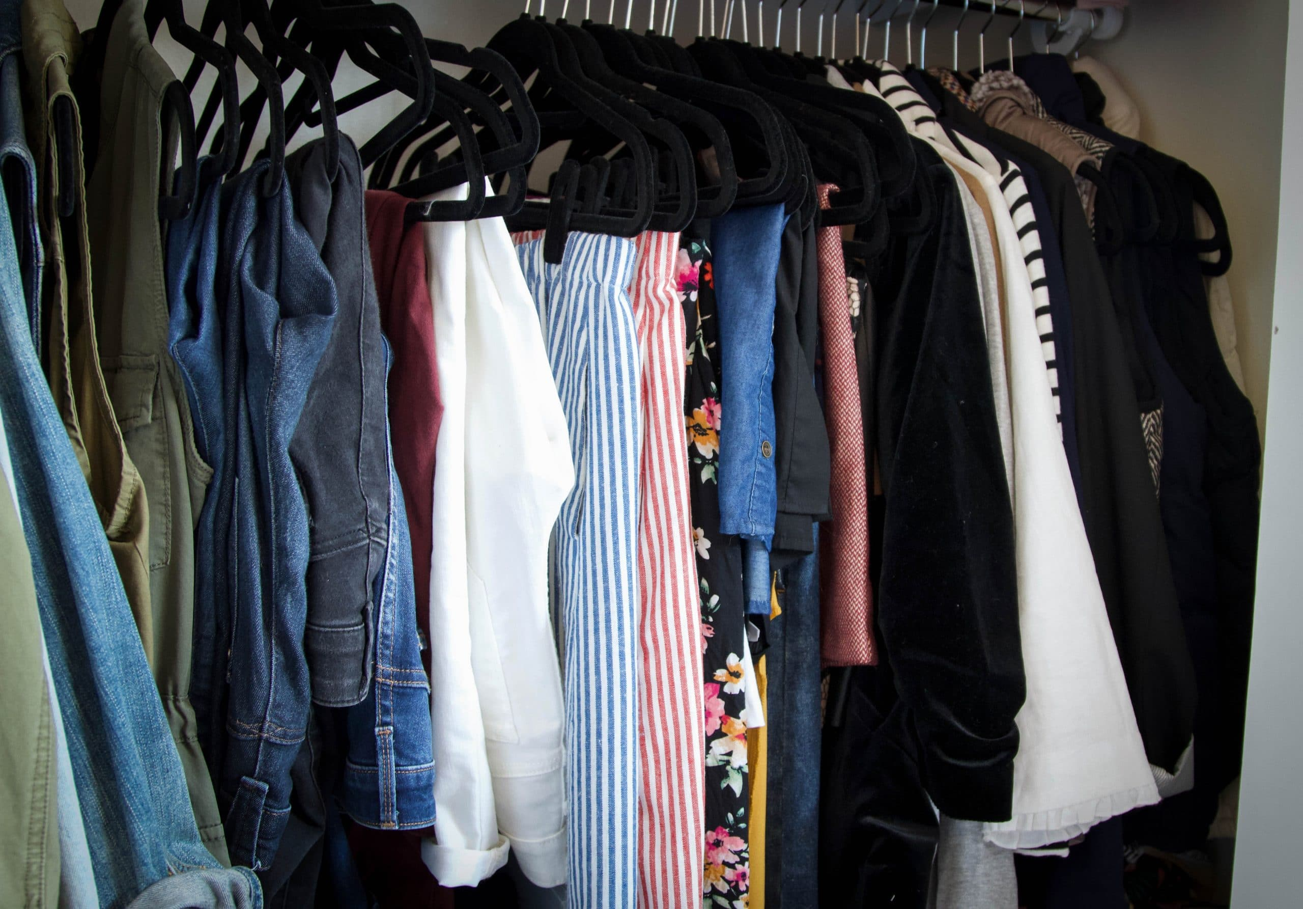 Closet Organization Jeans and Skirts