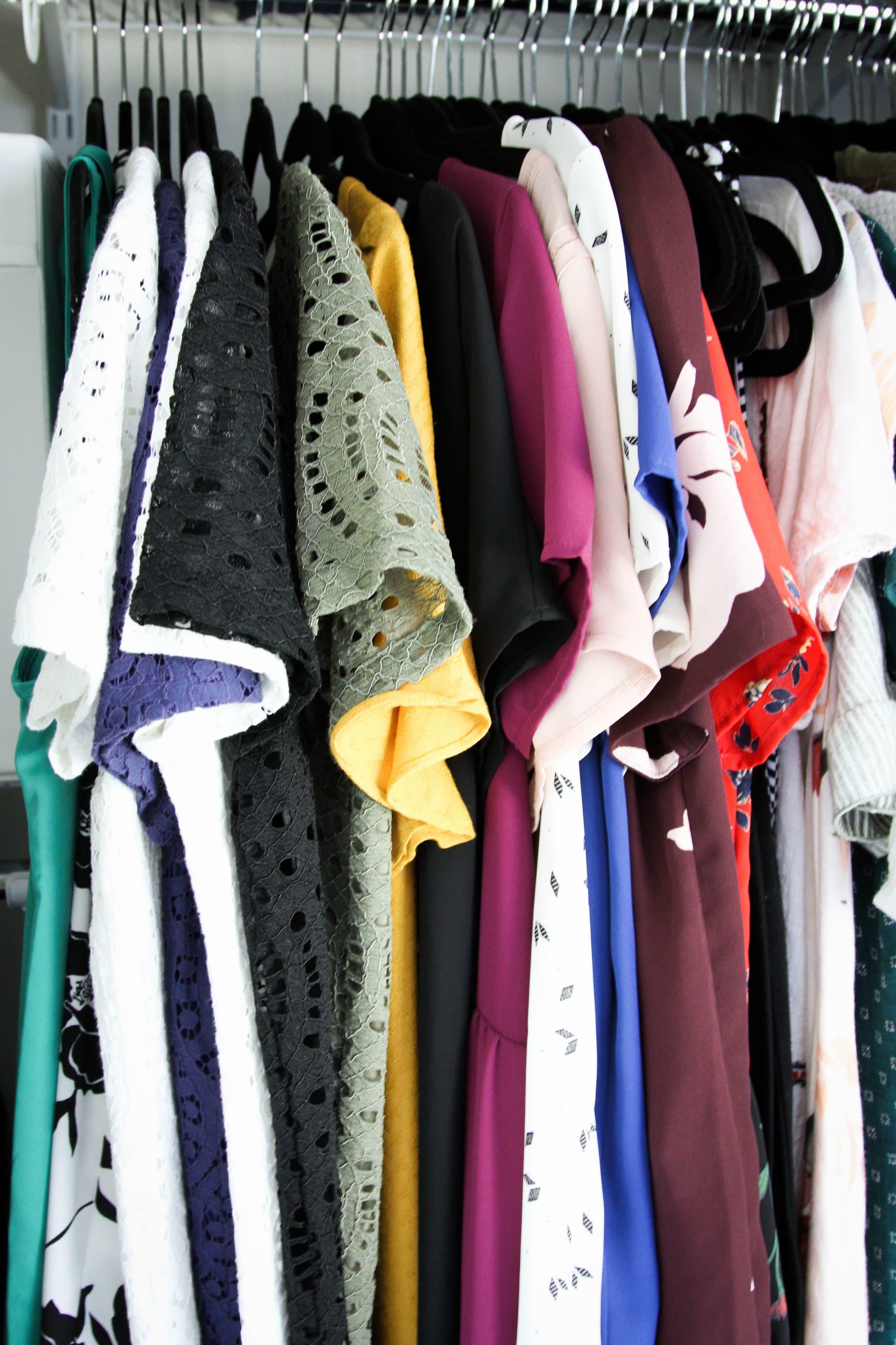 Tops Closet Organization