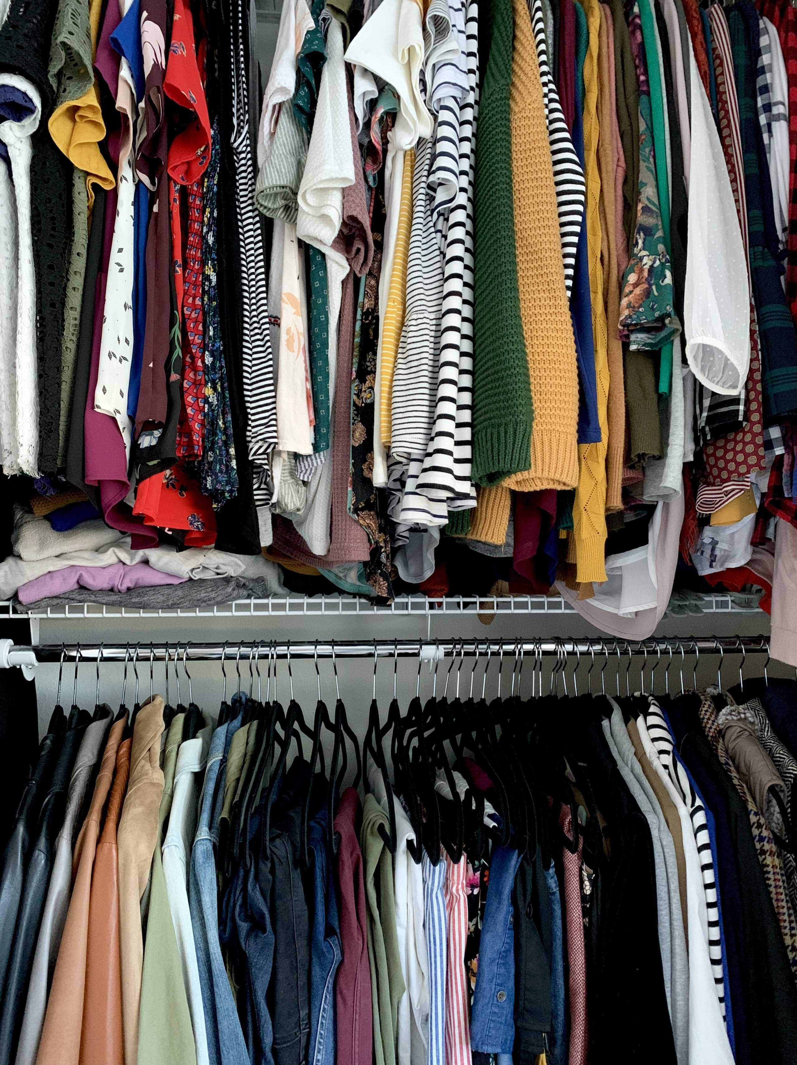 Closet Organization System Double Rack