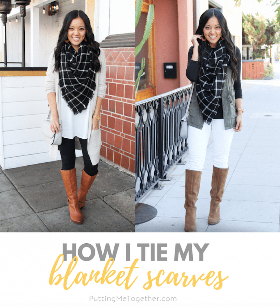Ways to Tie a Blanket Scarf