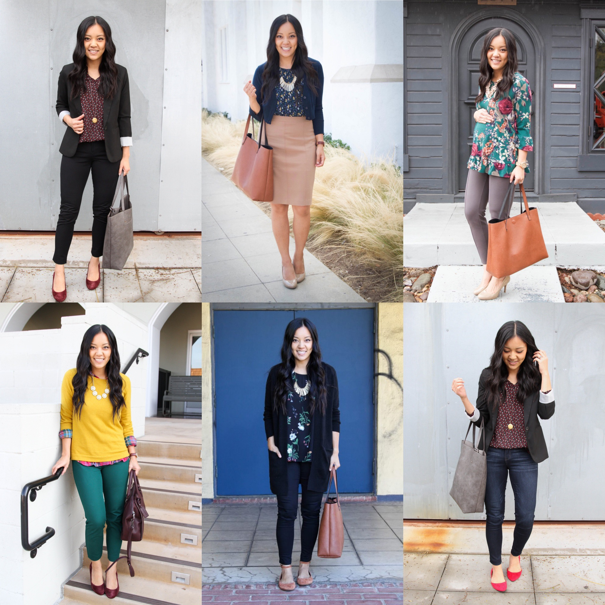 Business Casual Outfits - from dressier to casual