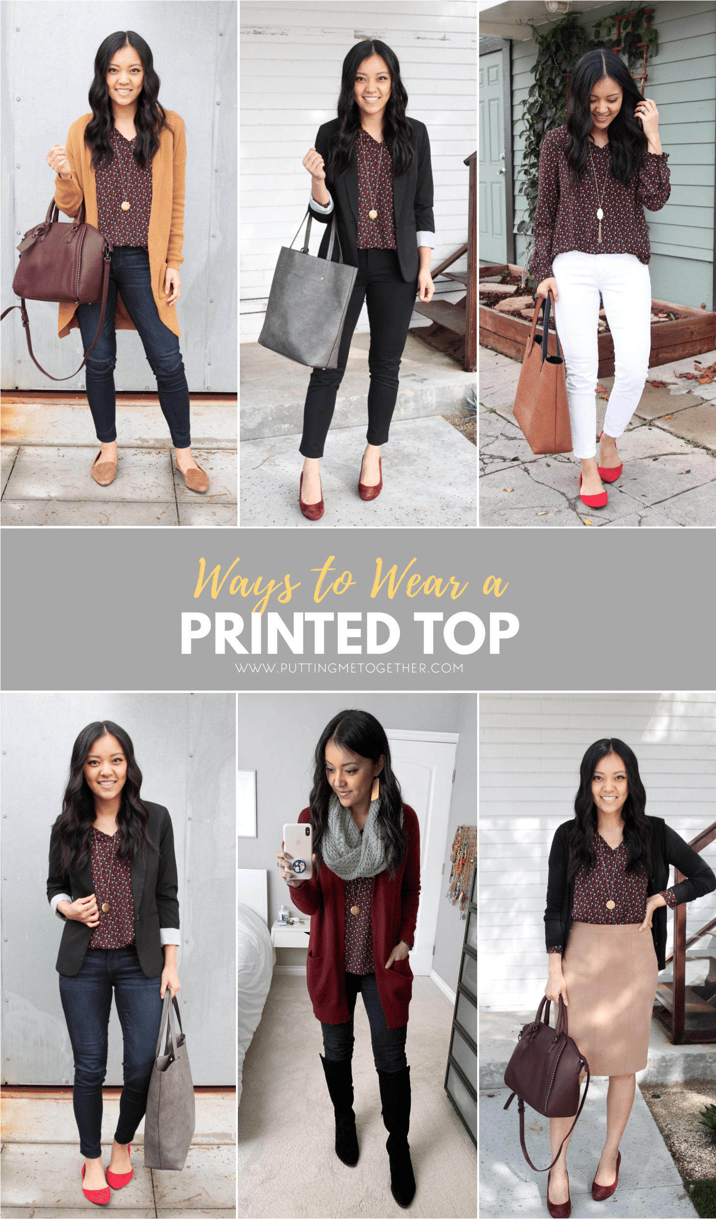1552d420e93b55 6 Ways to Wear a Printed Blouse for Work