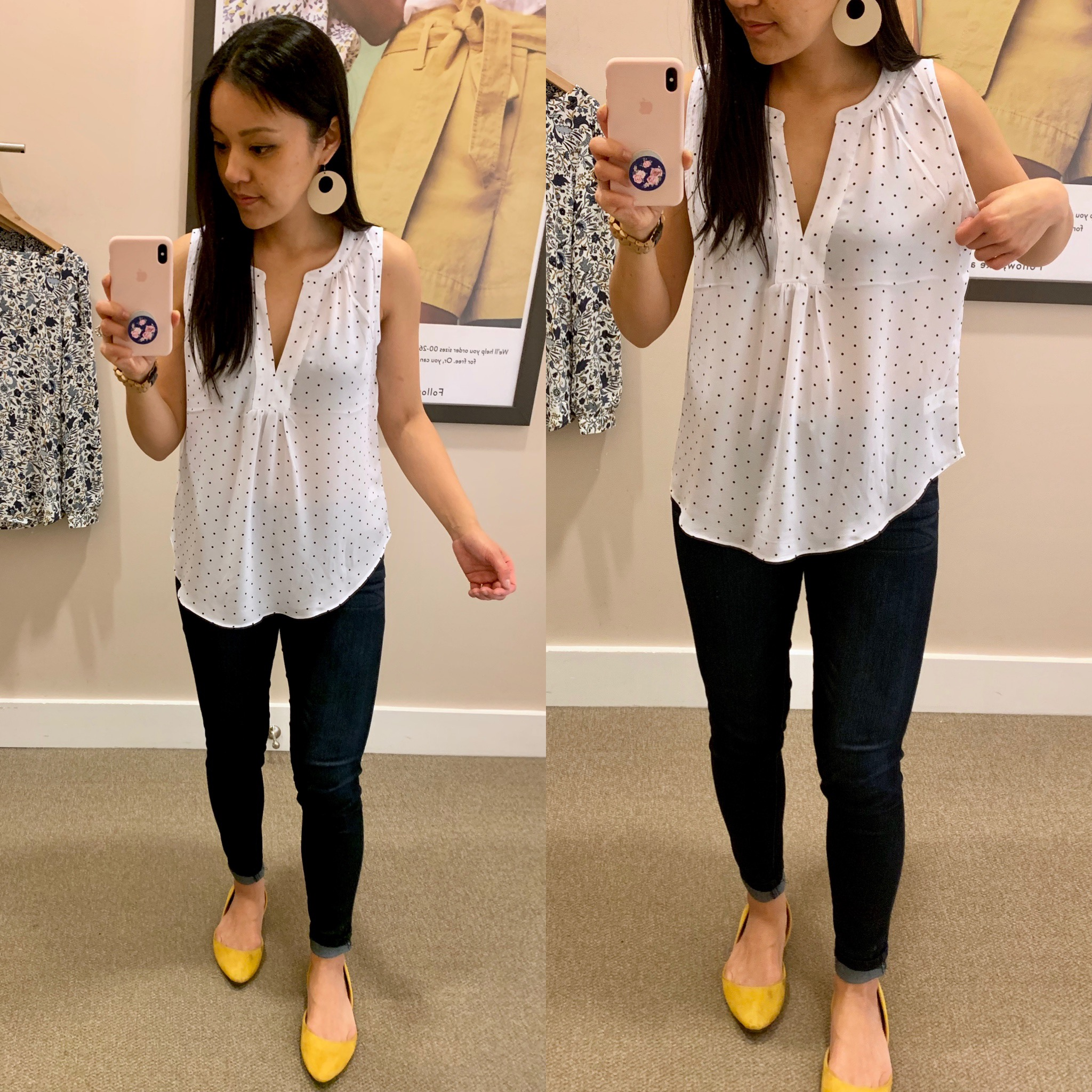 d40386a285e Polka Dot Top – size S but need XS How cute is this top  Another great one  for spring and summer and for casual style and workwear.