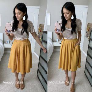 Amazon + Mustard Skirt