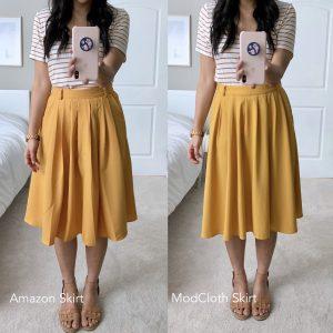Amazon + Modcloth + Mustard Skirt