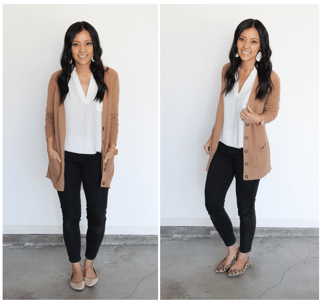 Plain to Polished: Adding a print to change an outfit