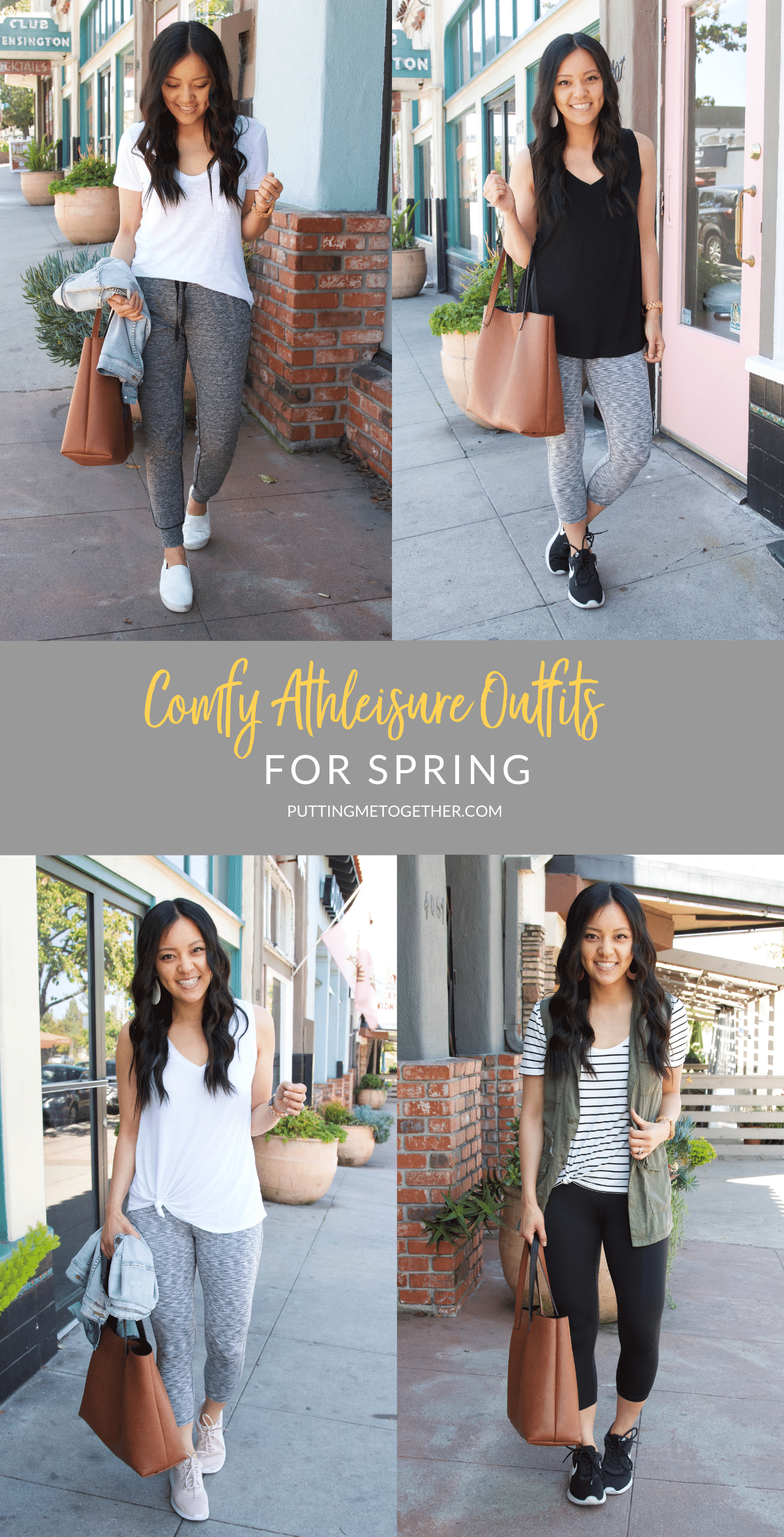 Comfy Athleisure Outfits for Spring