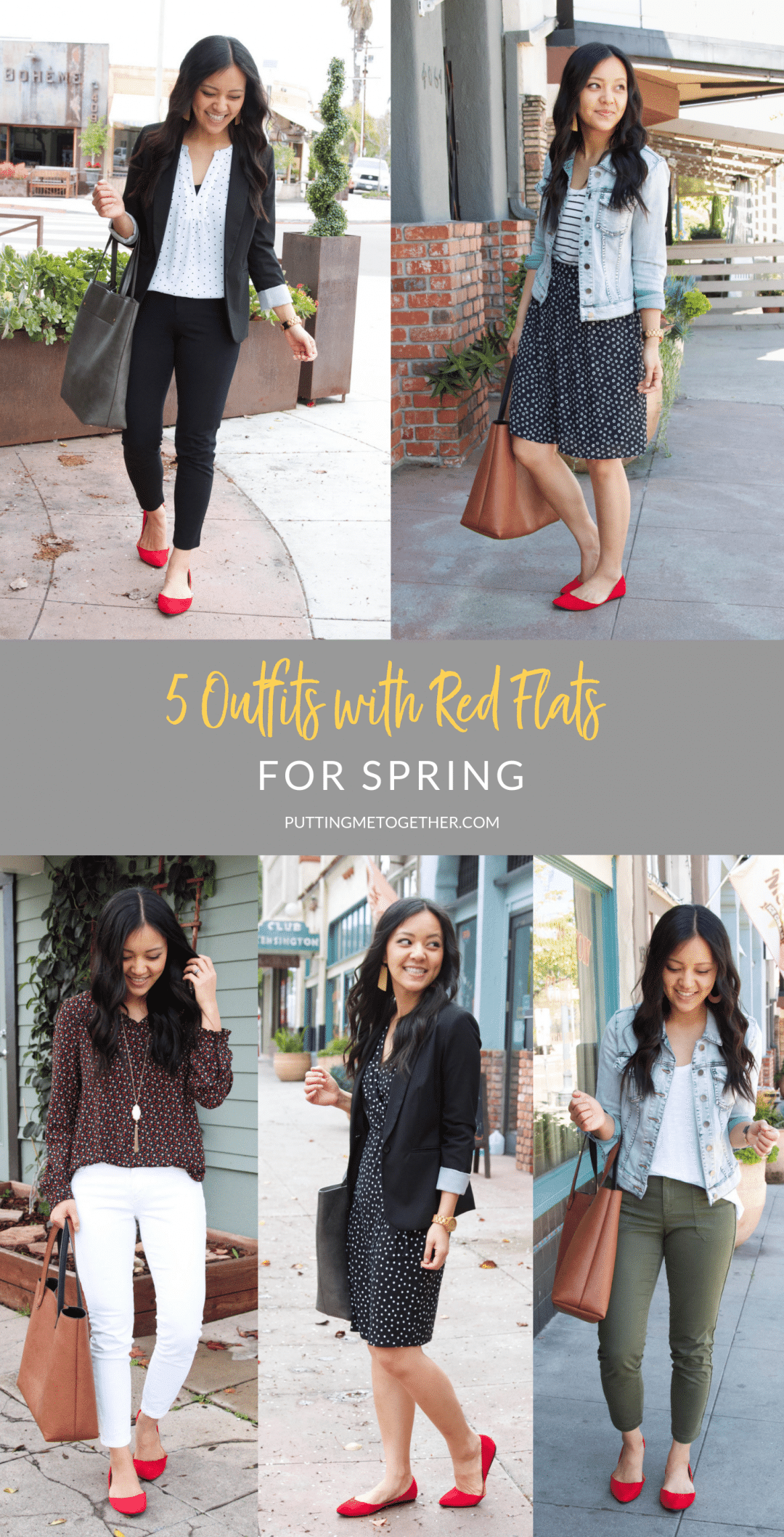 5 Outfits With Red Flats for Spring