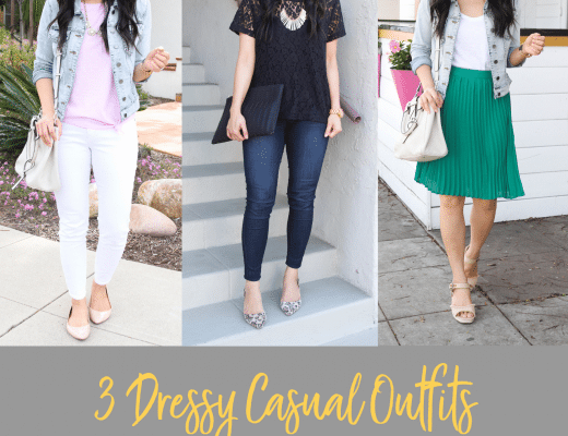 Three Go-To Dressy Casual Outfits for Spring