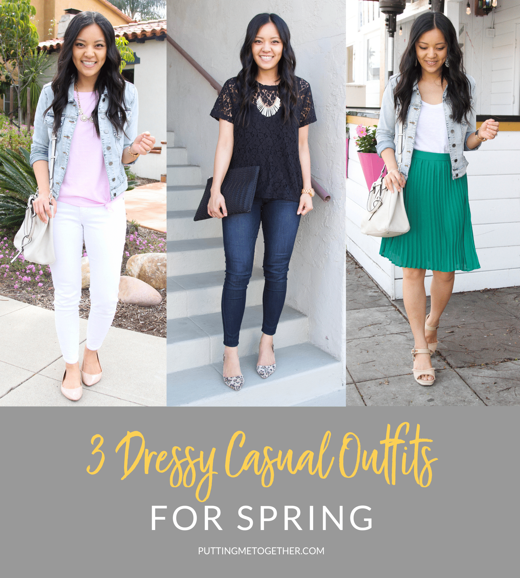 3 Dressy Casual Outfits for Spring