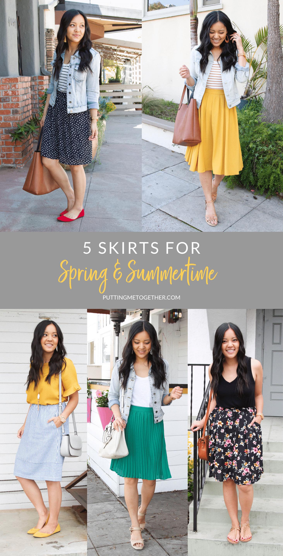 5 Skirts for Spring & Summer