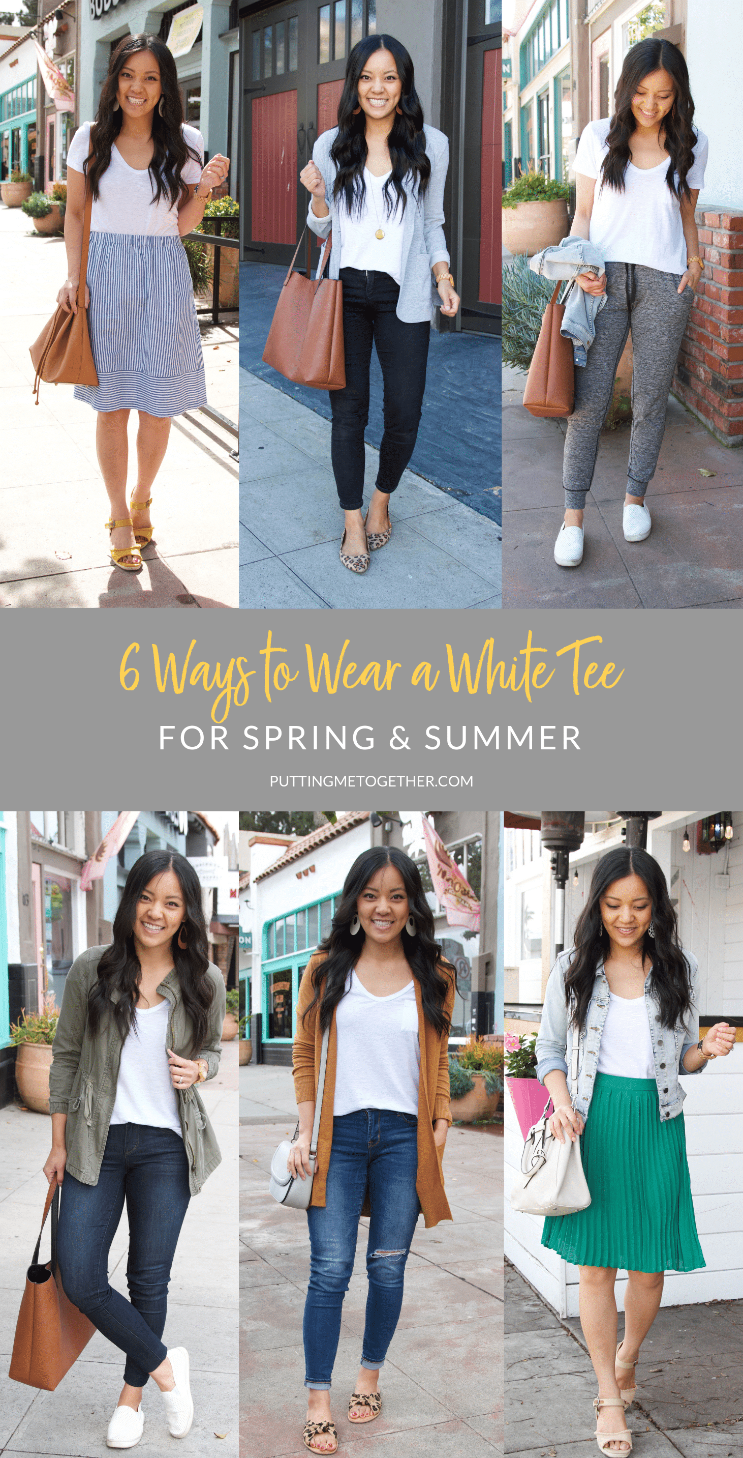 6 Ways To wear a White Tee for Summer