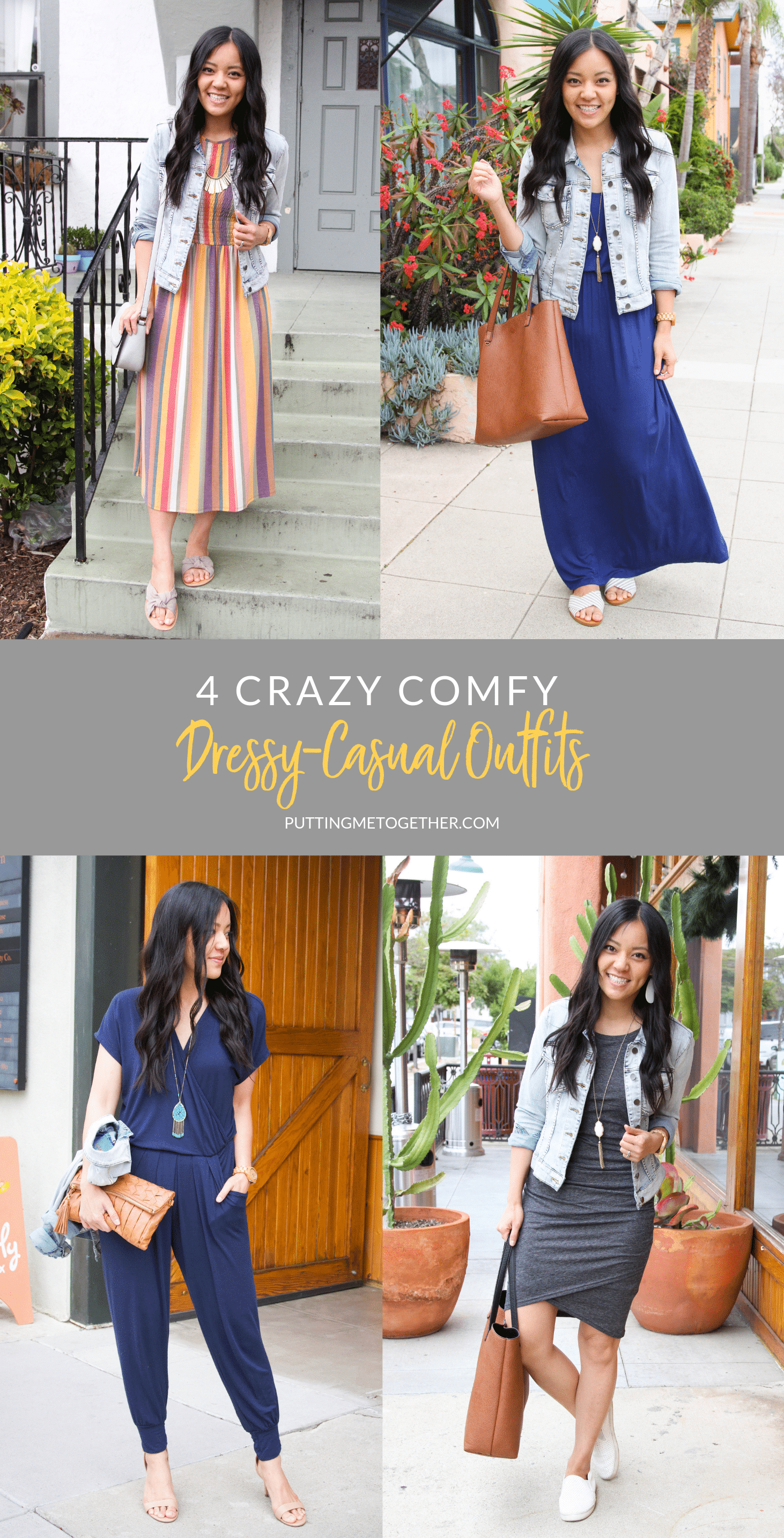 4 Crazy Comfy Dressy Casual Outfits
