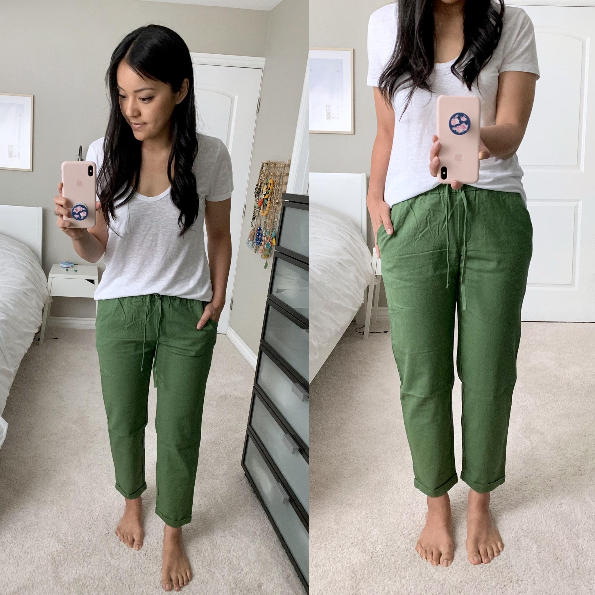 j.crew factory linen pants review