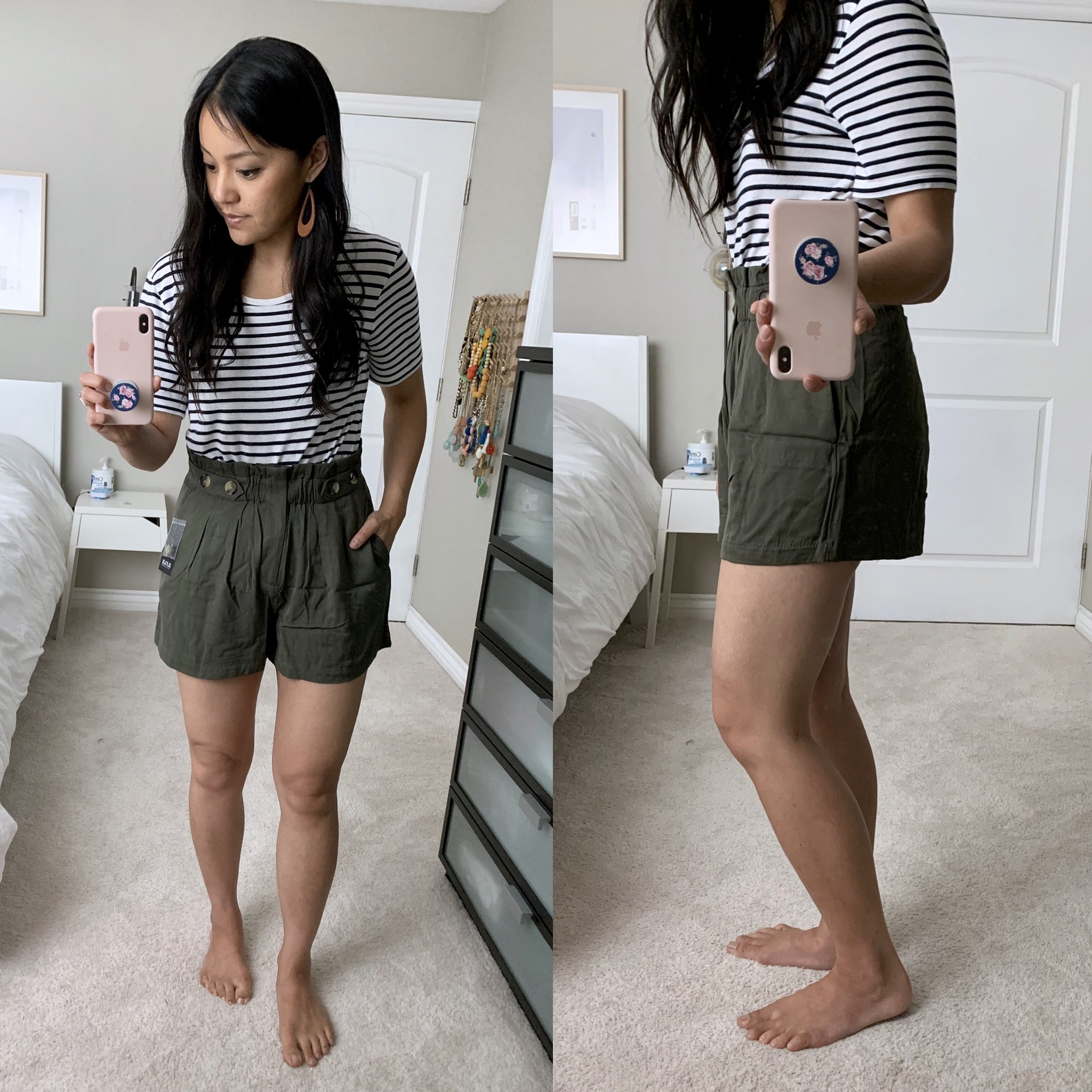 jcpenney paperbag shorts review