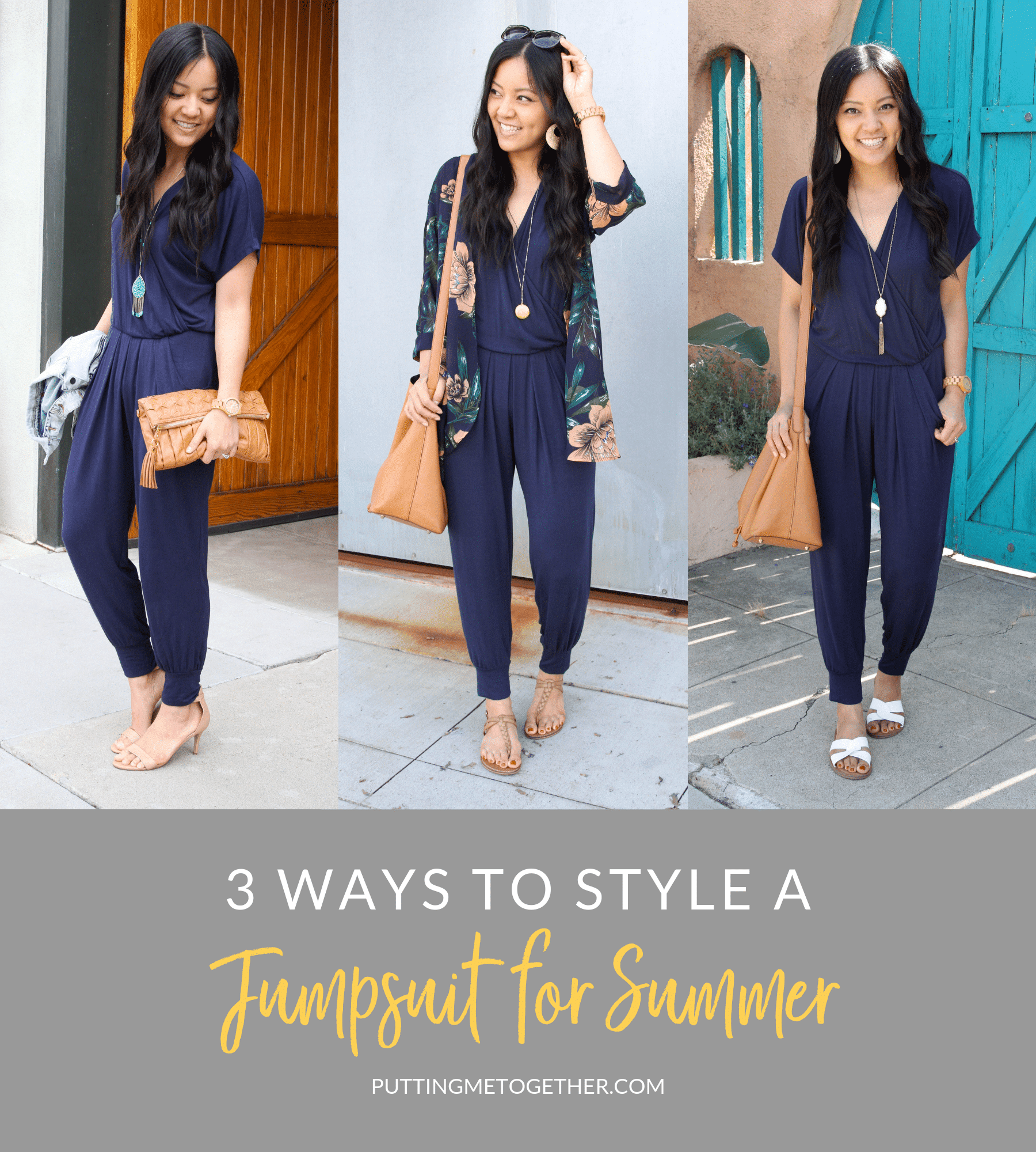 3 Ways to Style a Jumpsuit for Summer