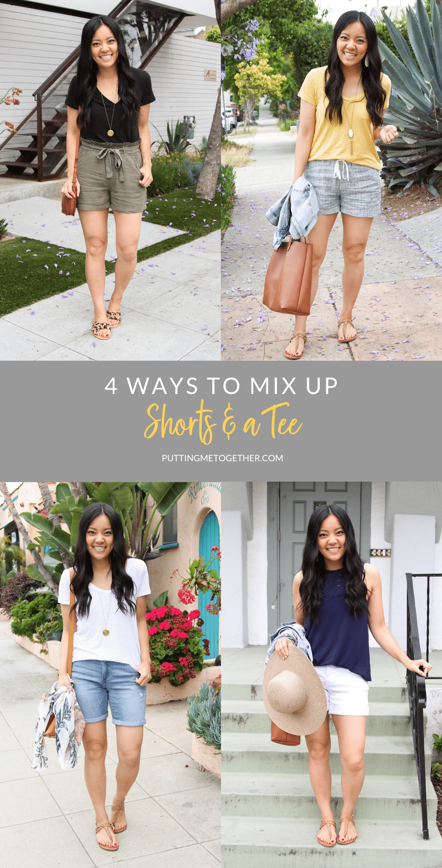 4 Ways to Mix Up Outfits With Shorts